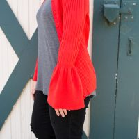 Red Cardigan for A Pear Shape Body