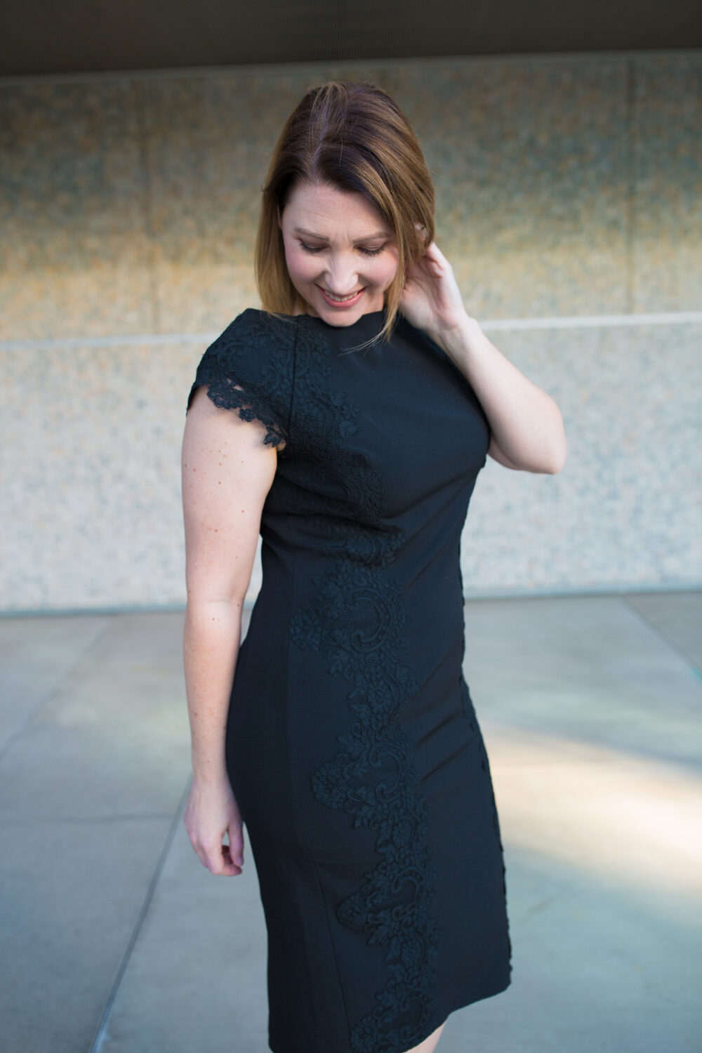 Looking for a black lace dress? This one is the perfect Valentine's Day Outfit or Date Night Outfit!