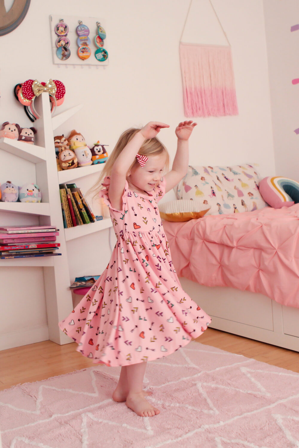 Princess Room: This blush pink rug is perfect for a pink nursery or playroom!