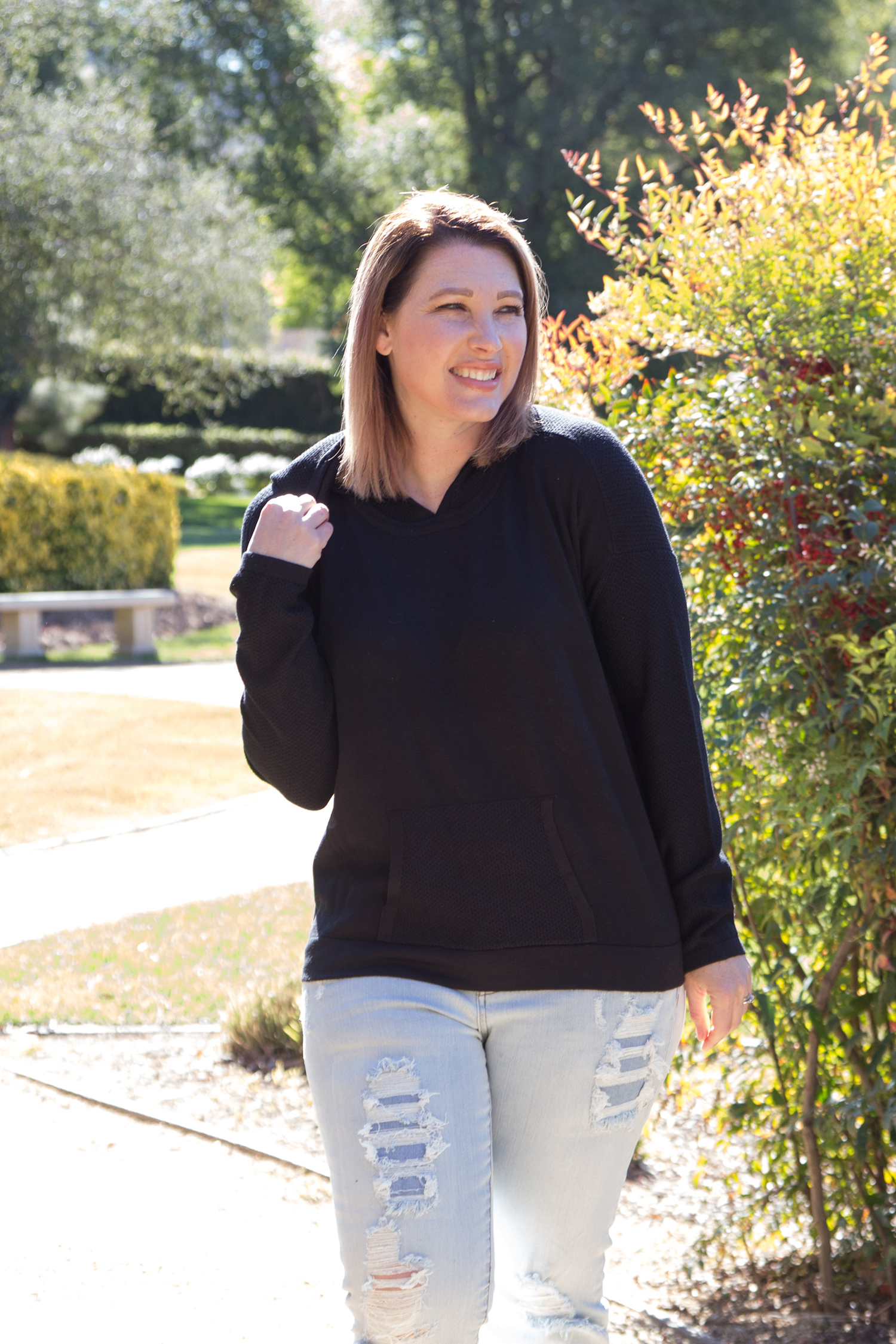 Stitch Fix Review March 2018: Pin this Evolution by Cyrus Reena Hooded Pullover to request it in YOUR fix!