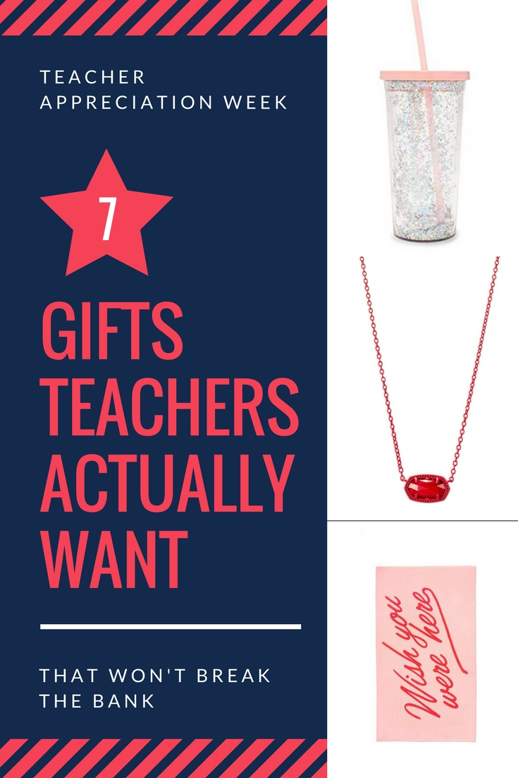 Looking for great teacher gifts for Teacher Appreciation Week? I'm listing things that teachers want (hint, it's nothing apple themed).......