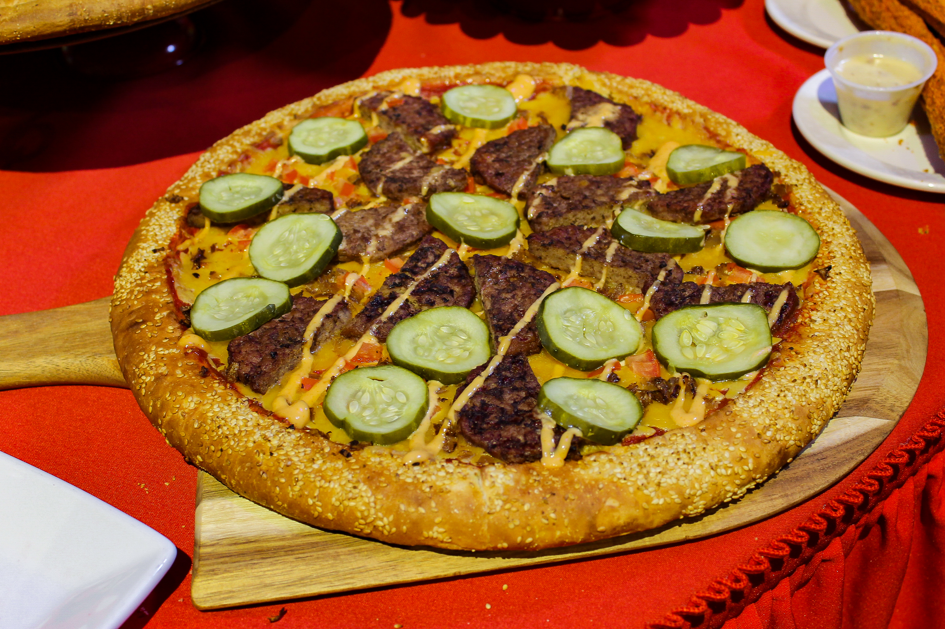 Disneyland Pixarfest: Cheeseburger Pizza