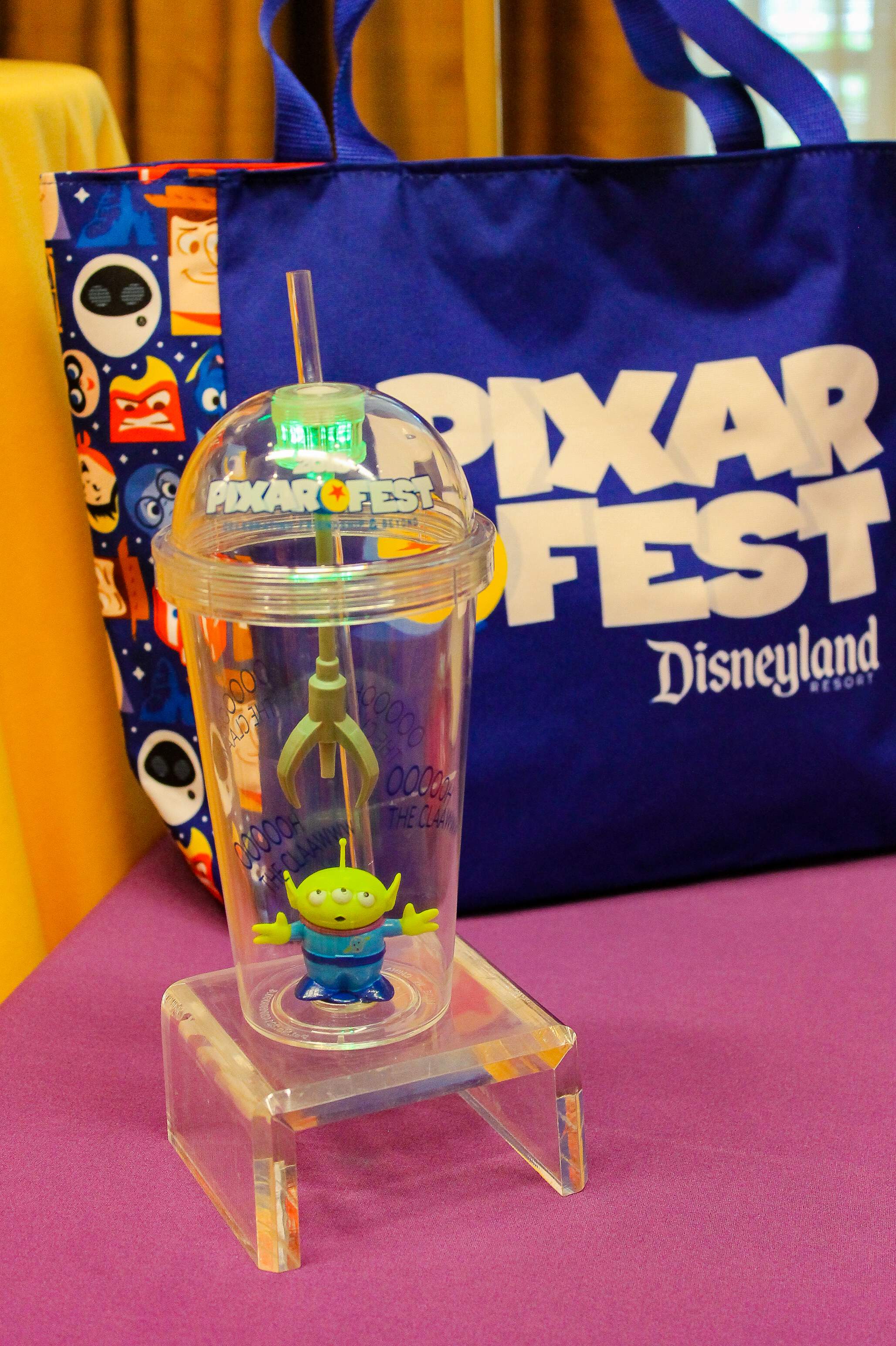 Disneyland Pixarfest: Space Alien Light Up Tumbler