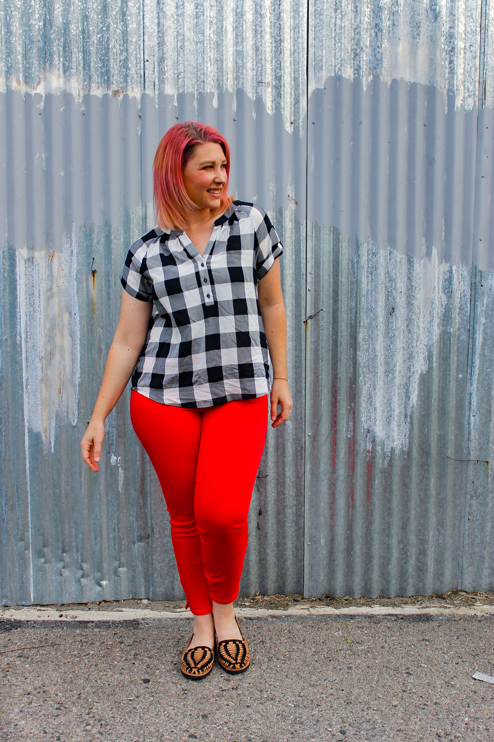Stitch Fix Review May 2018: The perfect plaid blouse? This Market & Spruce Tran Henley Style Top!