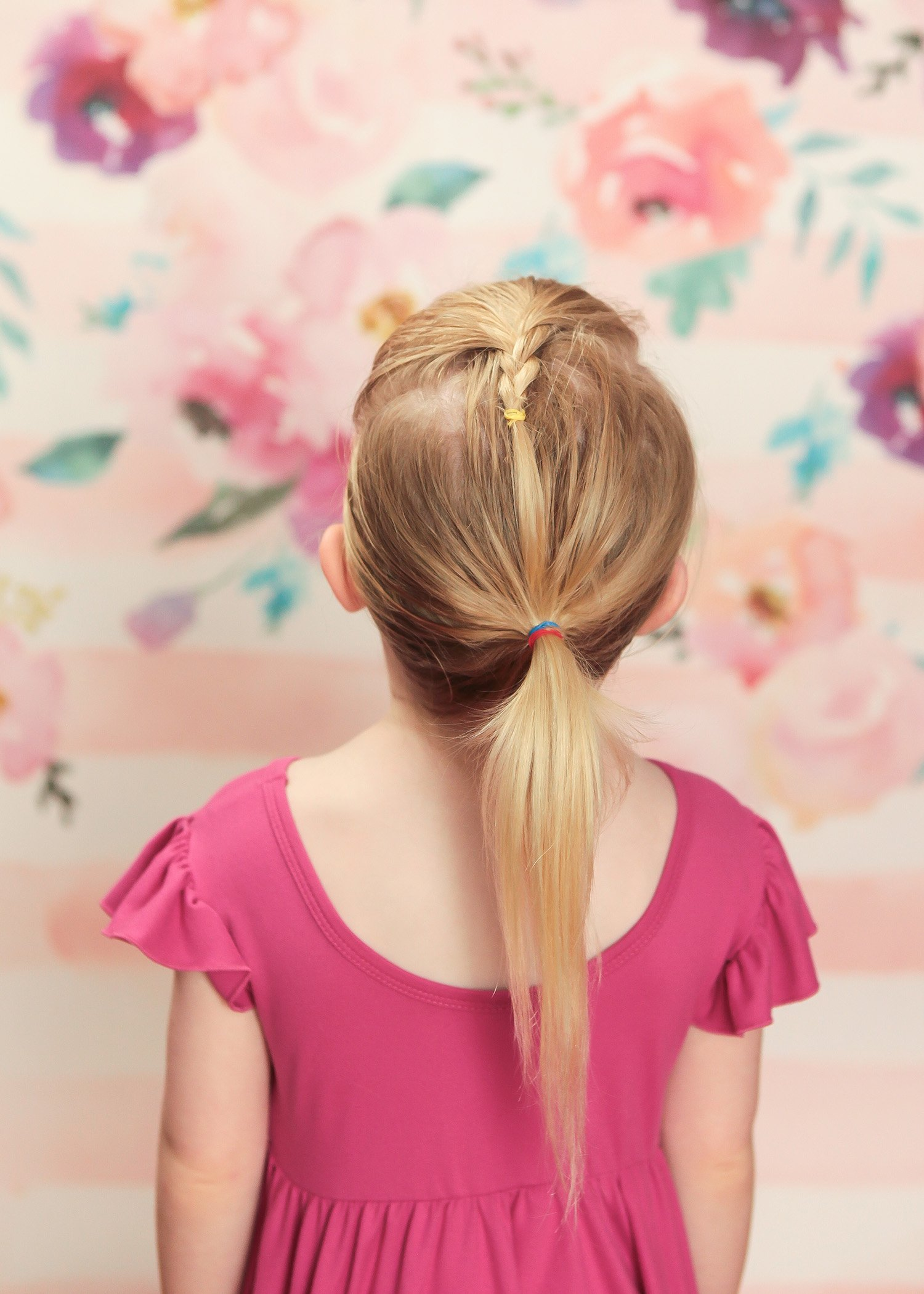 Toddler Hairstyles: This braided ponytail takes less than 3 minutes!