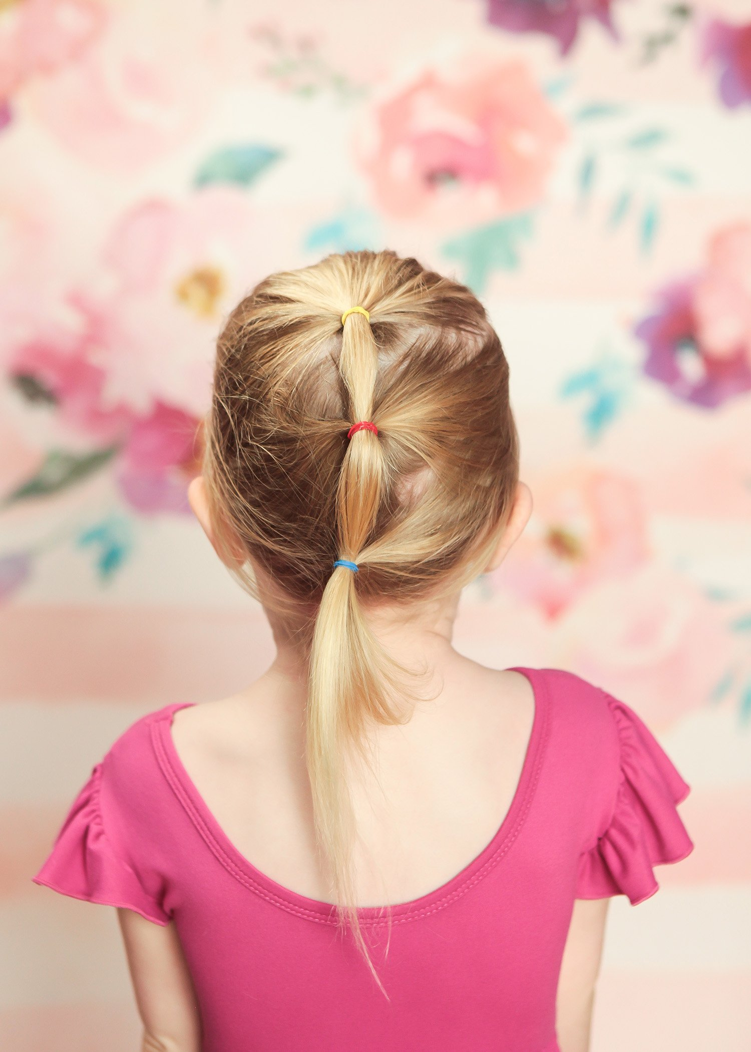 Toddler Hairstyles: This cascade ponytail is adorable and super easy to create!