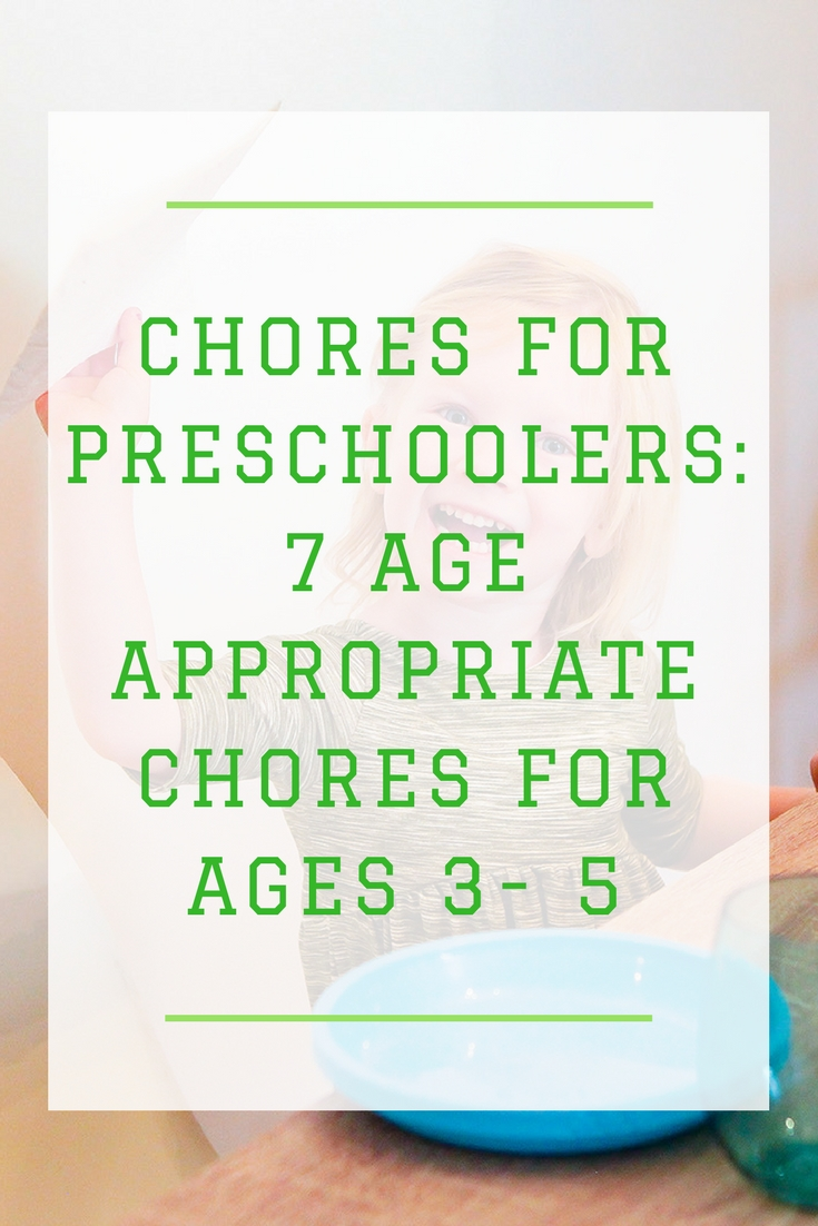 Looking for Age Appropriate Chores for Preschoolers? We're sharing 7 chores that any preschooler can do to help you around the house!