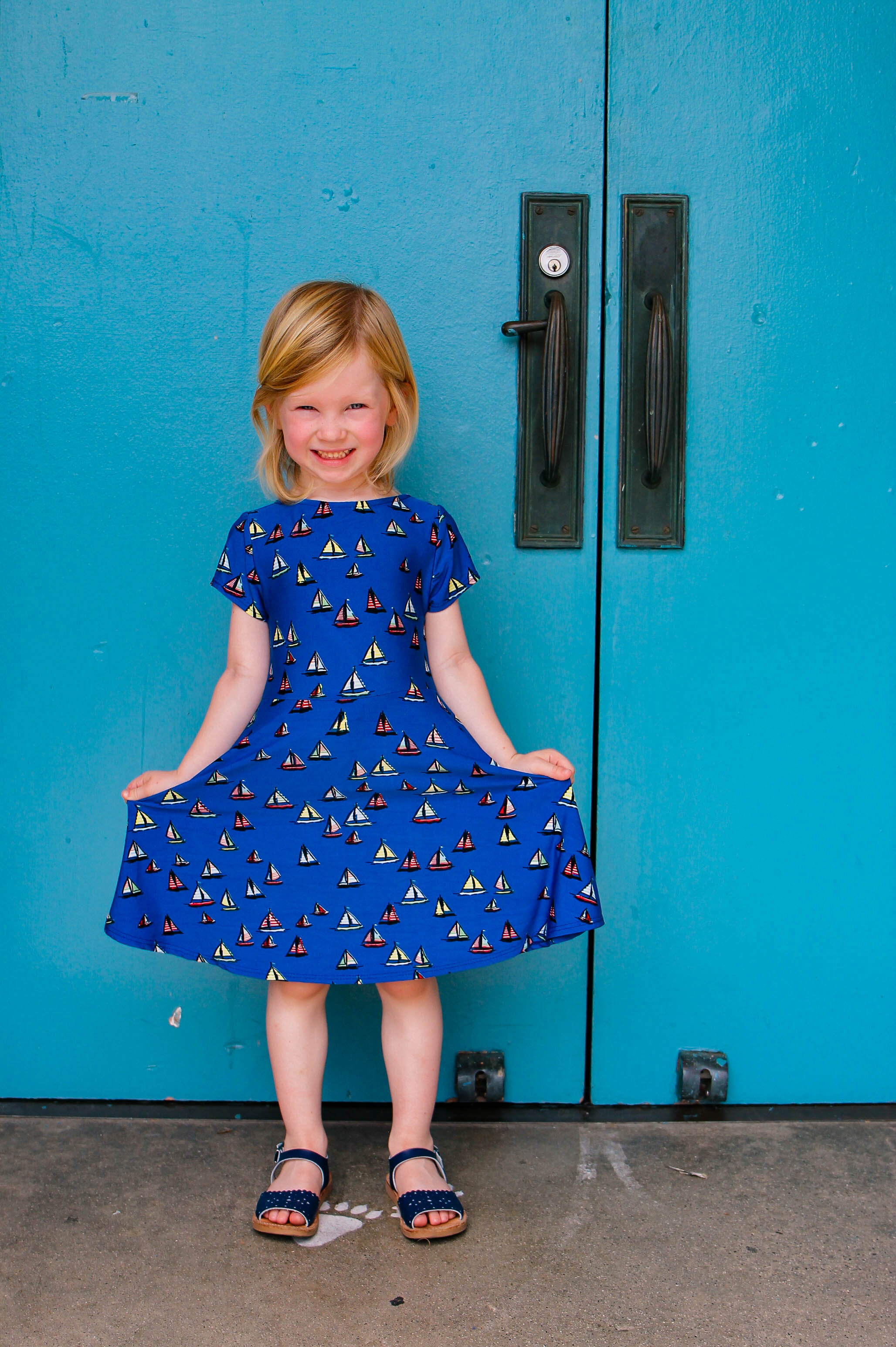 Stitch Fix Kids Review: How cute is this Leota Mackenzie Skater Dress?