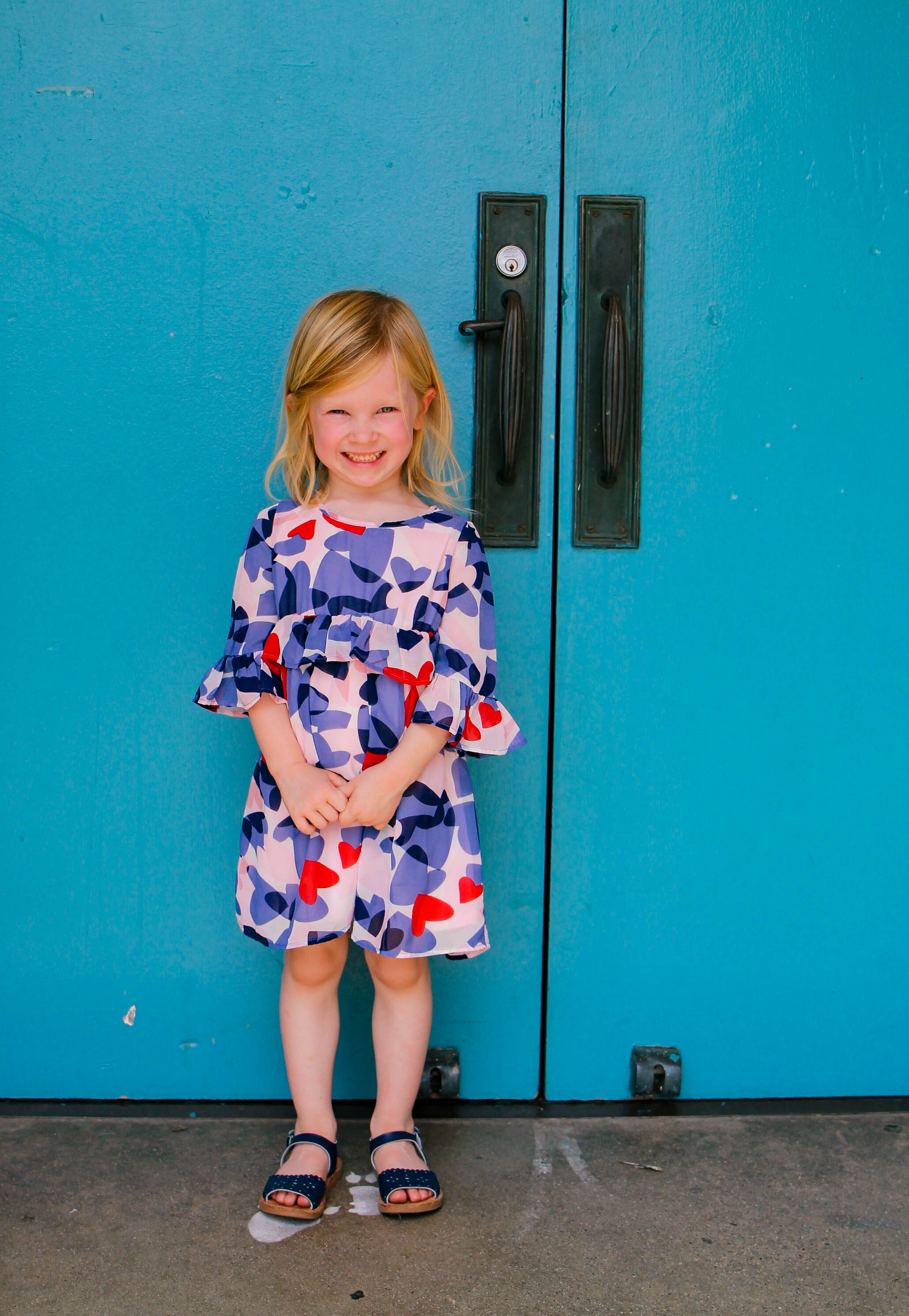 Stitch Fix Kids Review: How cute is this Kate Spade Brea Confetti Heart Dress?
