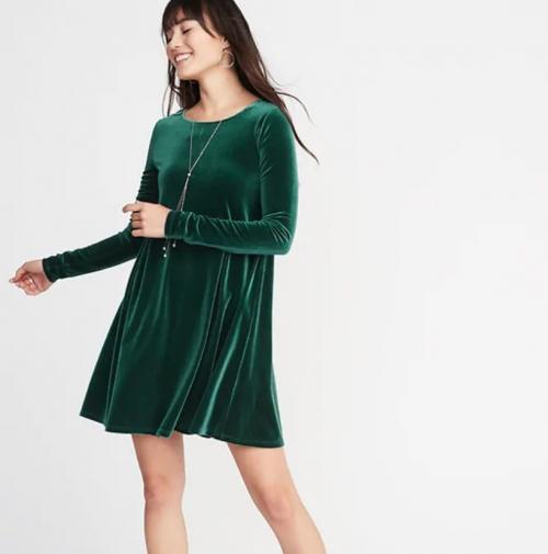 Velvet Swing Dress — Size Medium