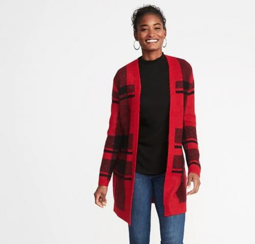 Plaid Sweater — Medium