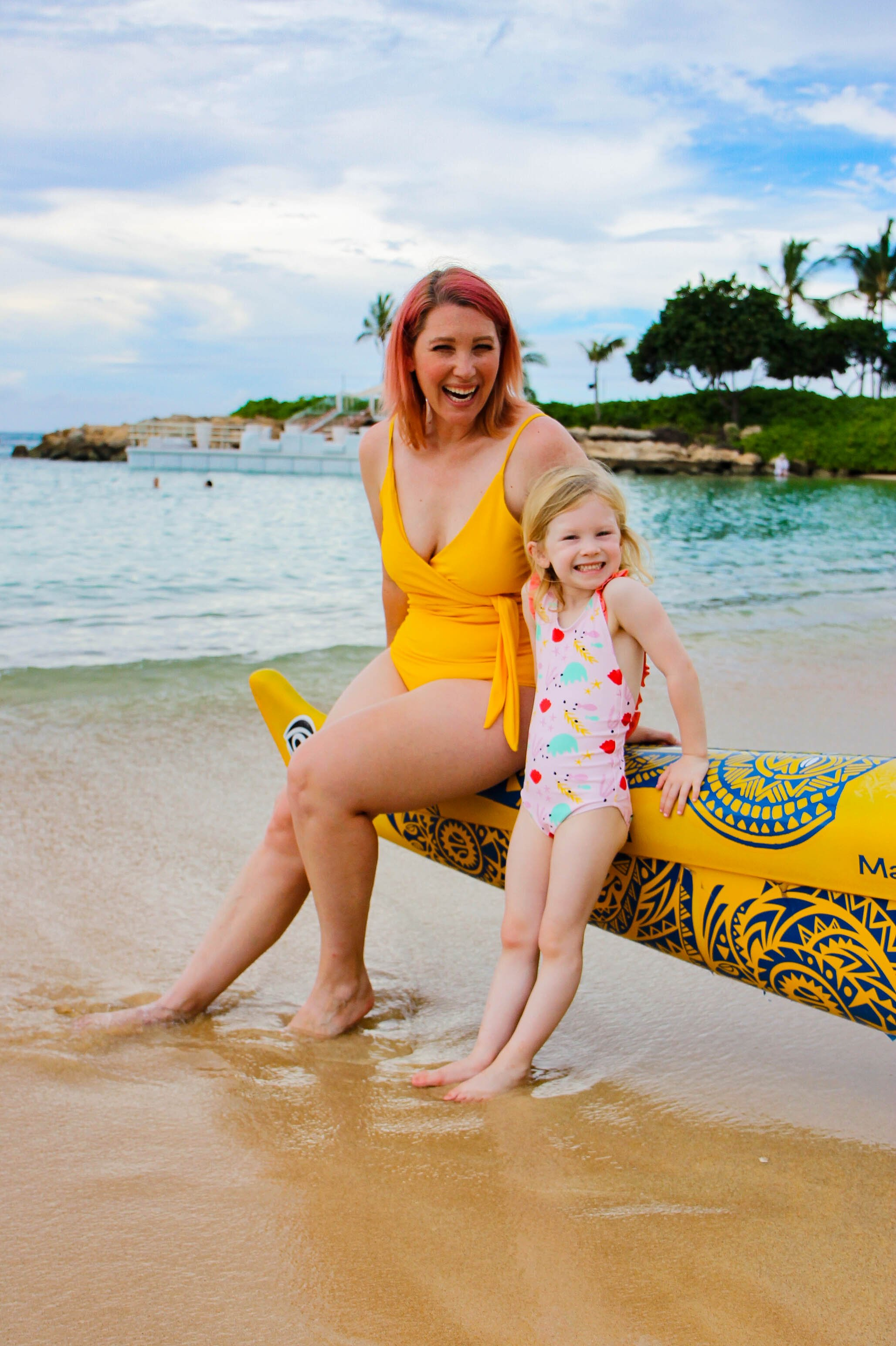 These Kortni Jeane Mommy and Me Bathing Suits are PERFECT for a Hawaiian Vacation!