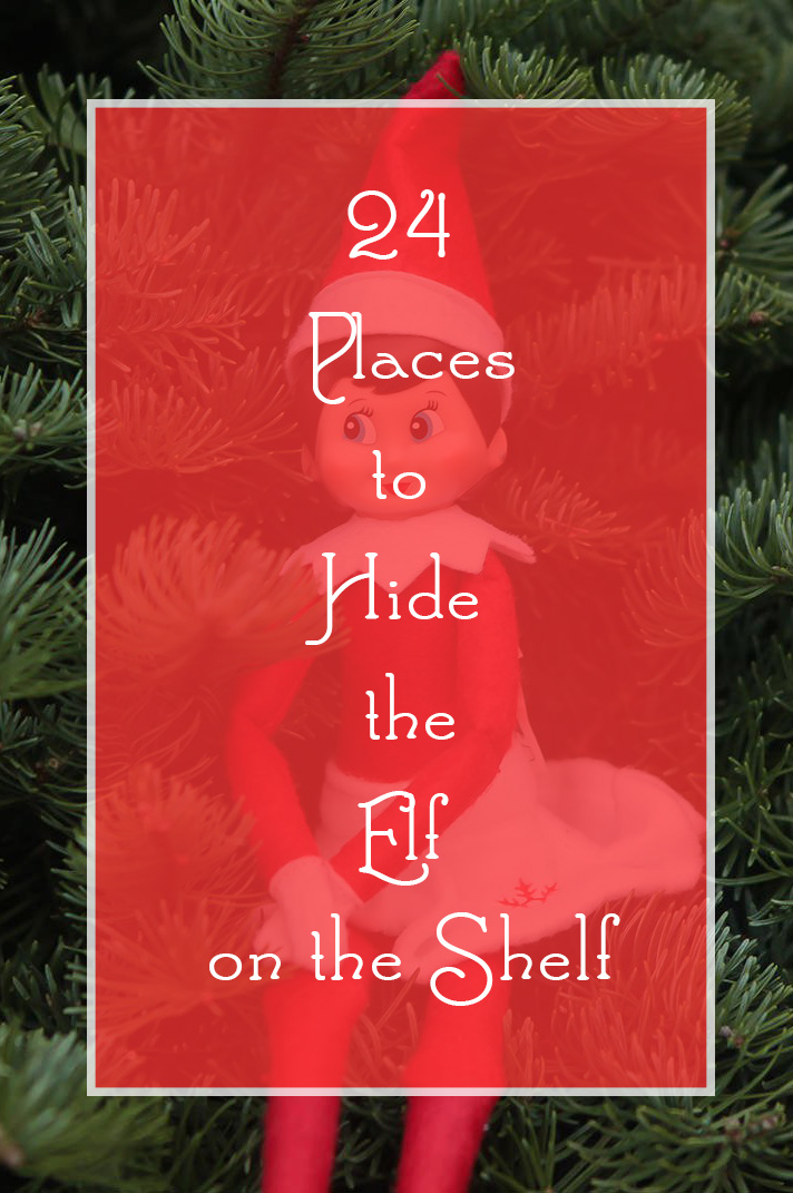 Anyone else lack inspiration when looking for Elf on the Shelf Hiding Places? This list will take you all the way up to Christmas eve!