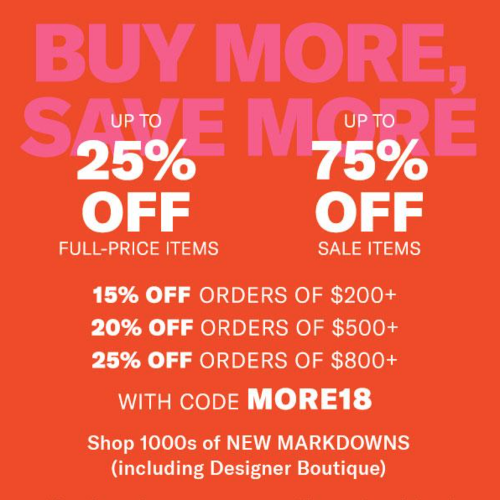 The Shopbop sale is my favorite time to seriously stock up on rarely go on sale items.  From stunning purses to great fitting jeans, during the sale the more you buy the more you save.