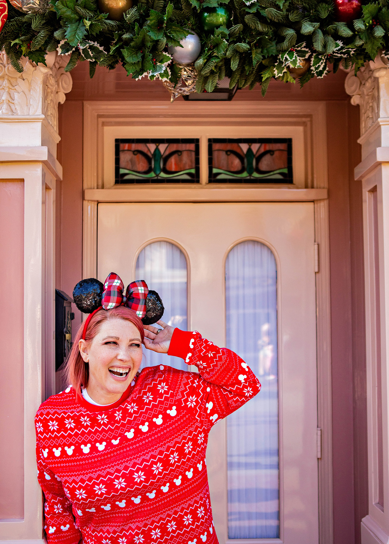 Looking for fun Disneyland outfits? This Mickey Christmas Sweater is PERFECT for Disneyland Christmas trips!