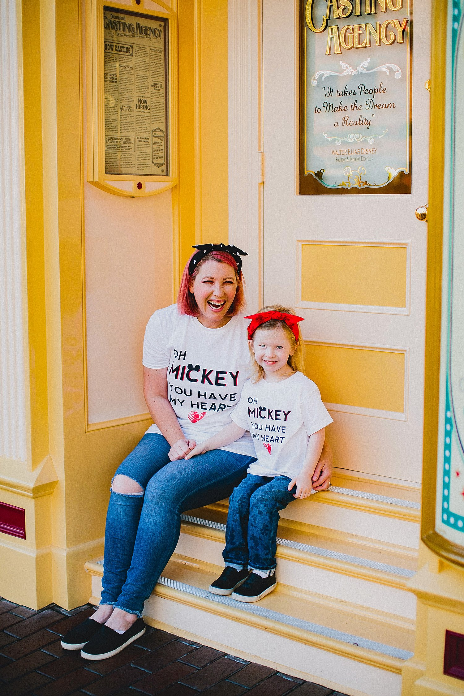 Disneyland Outfits: Mommy and Me Mickey Tees 1