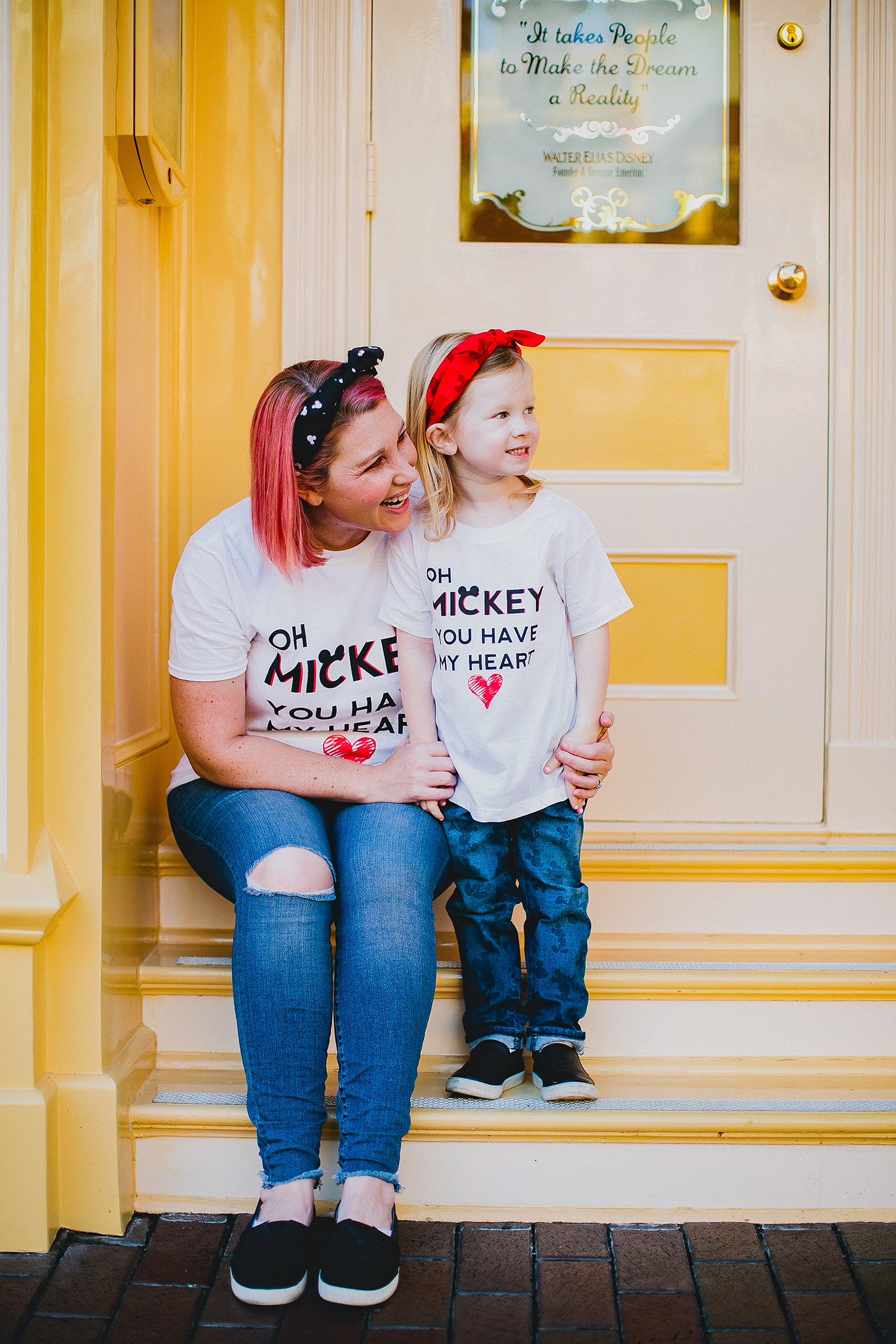 Mommy and Me Mickey Tees: Disneyland Outfits