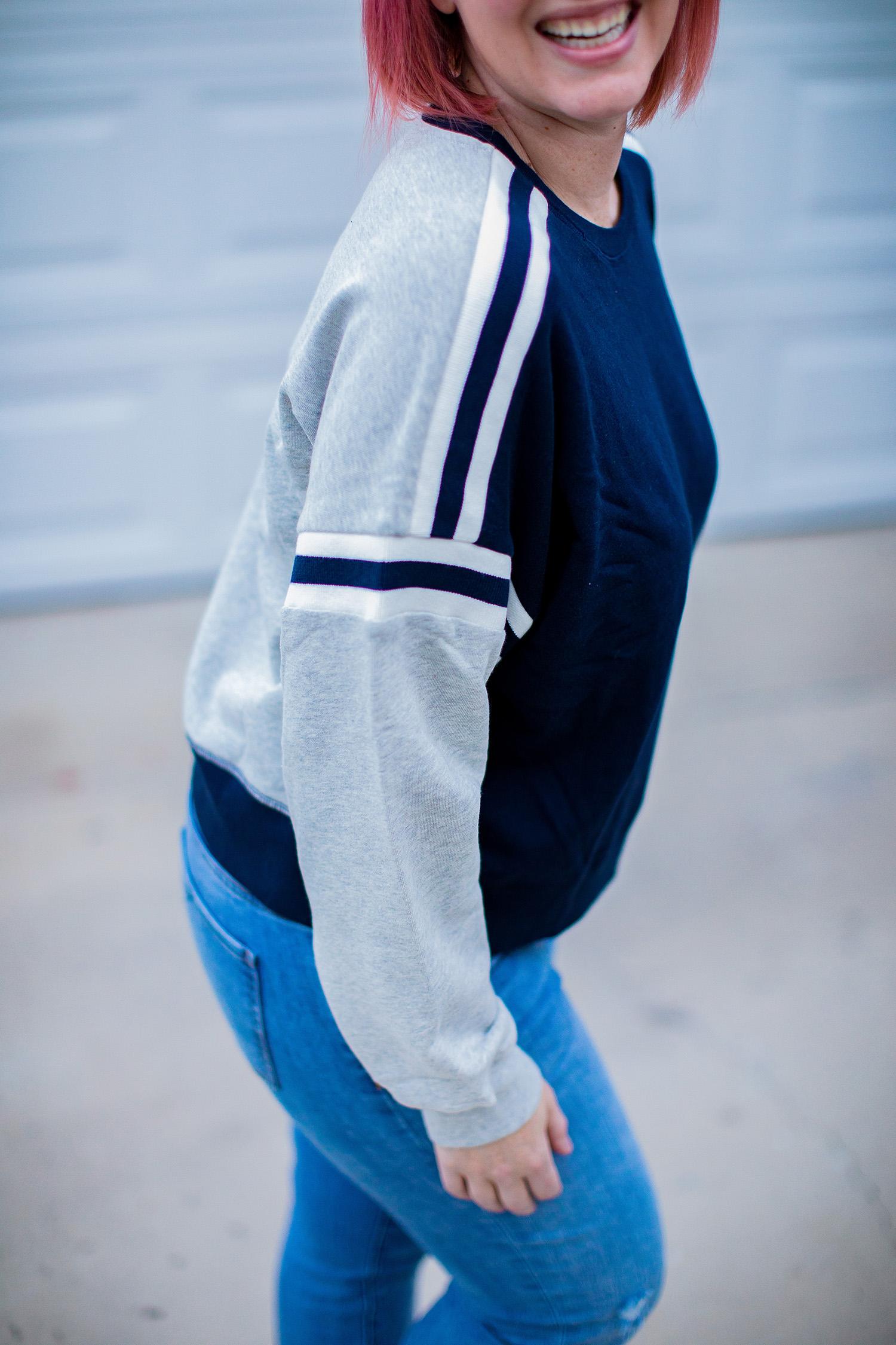 colorblocked sweatshirt