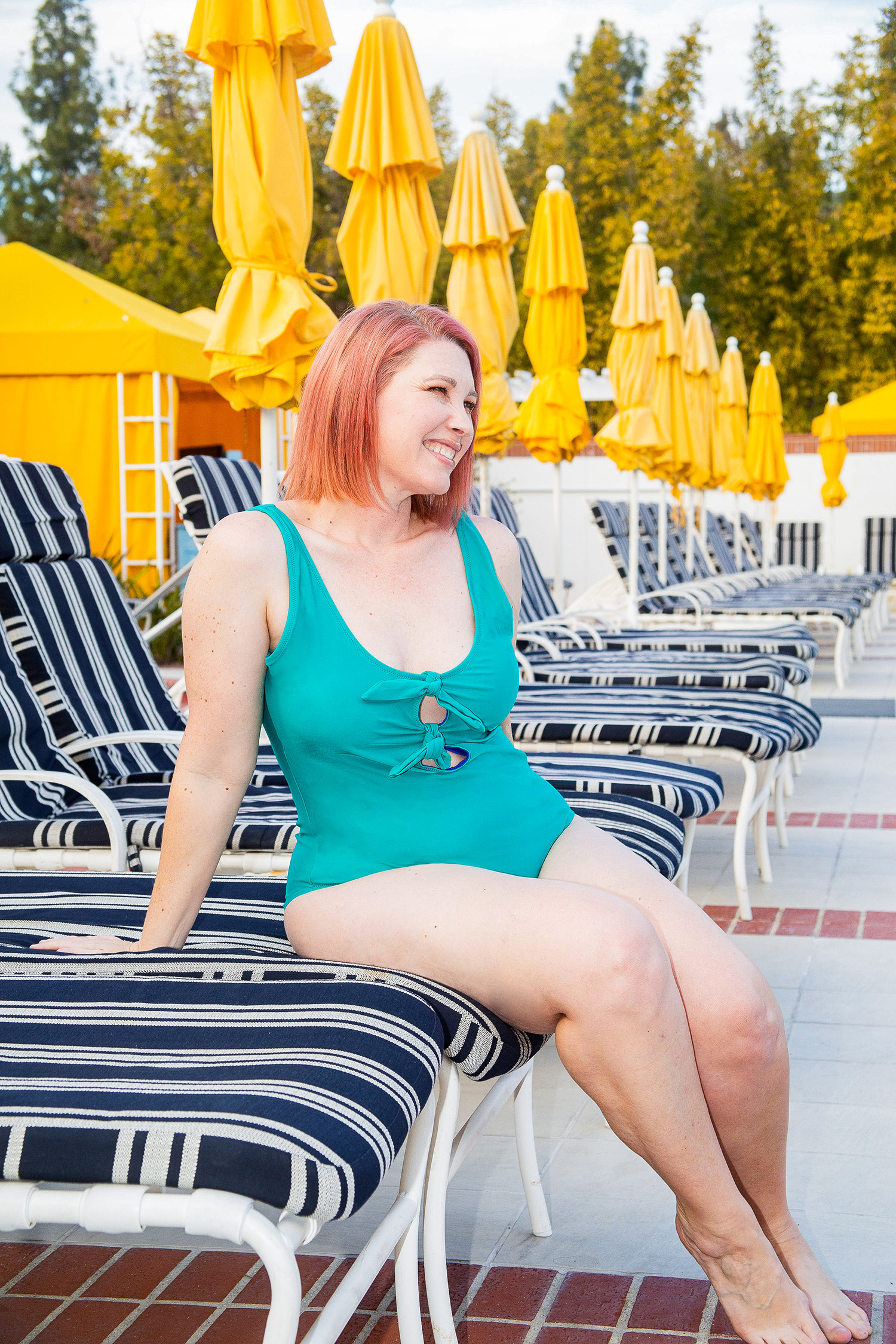 On the hunt for great one piece bathing suits? This is one of my favorite Old Navy Bathing Suits, it's super flattering and the perfect mom bathing suit!