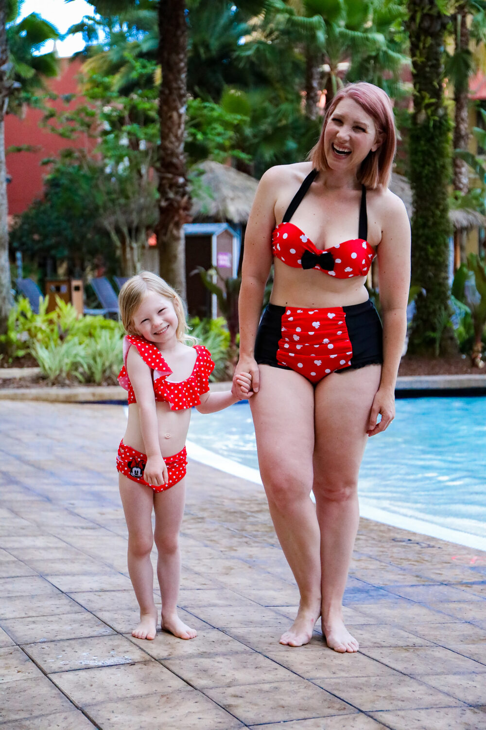 Let's rock the dots! Looking for Disney bathing suits? These are an adorable option!
