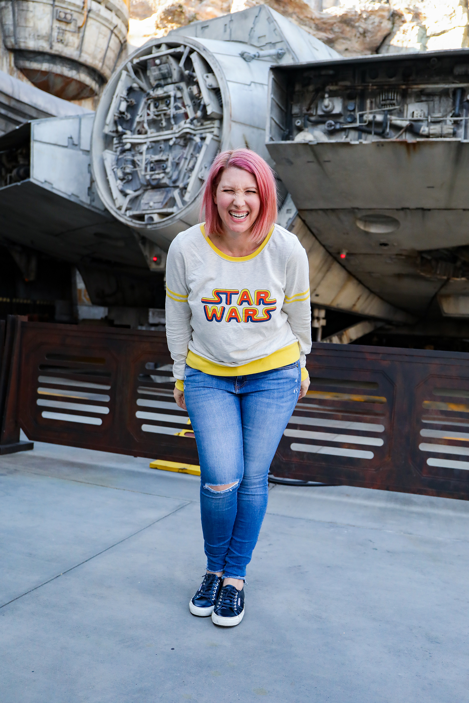 This Star Wars Logo Sweatshirt is PERFECT for visiting Galaxy's Edge!
