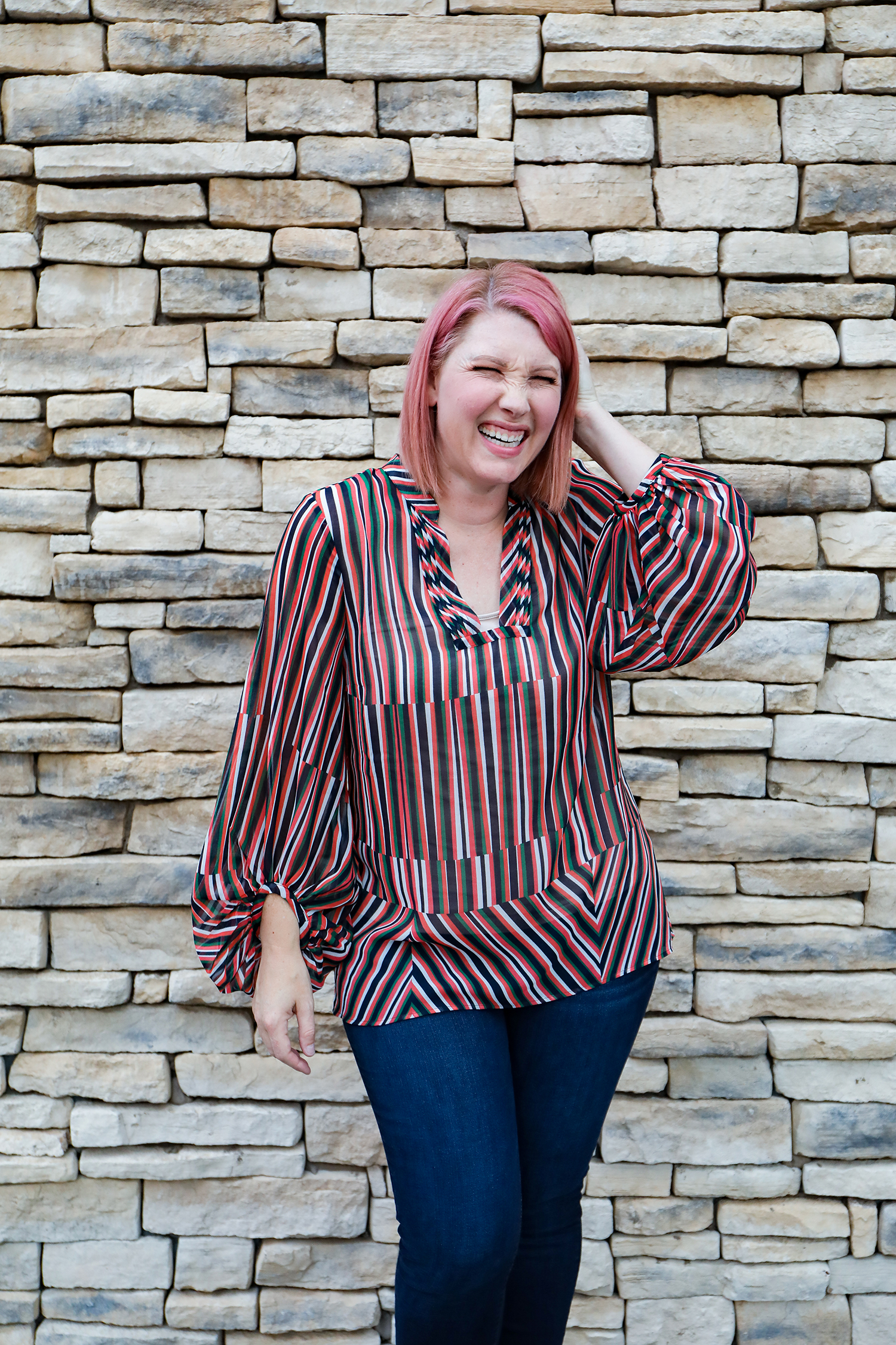 I love this striped blouse by Cabi Clothing!