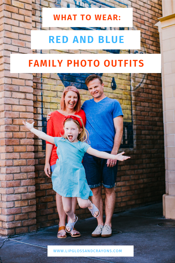 Looking for family picture outfit inspiration? These red and blue family photo outfit ideas and tips are PERFECT!