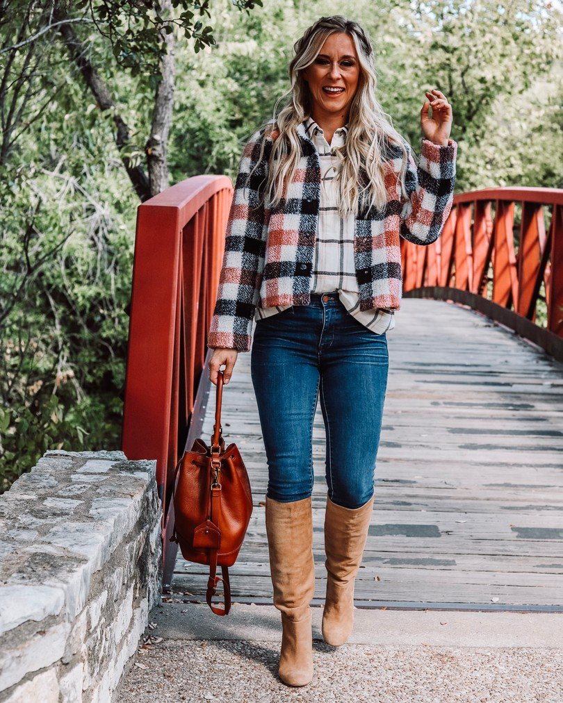 Love these Madewell jeans styled for fall!