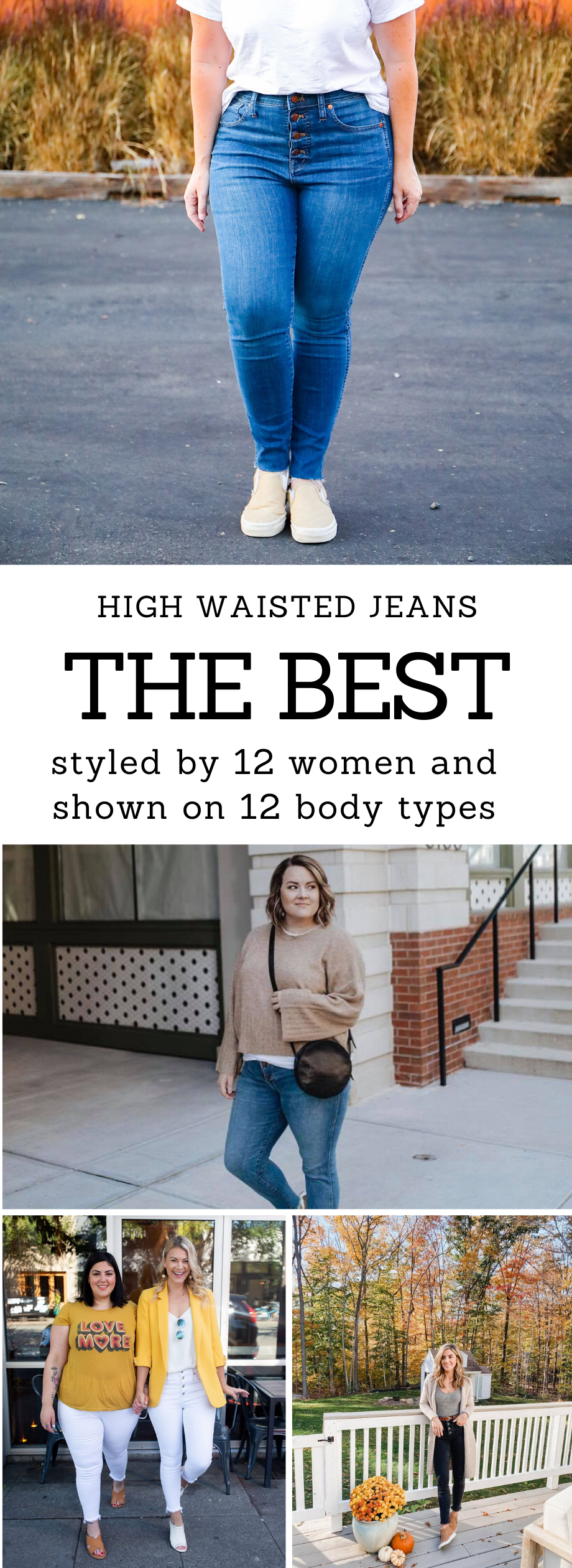 On the hunt for the best high waisted denim? These Madewell jeans fit like a dream, and are super versatile!