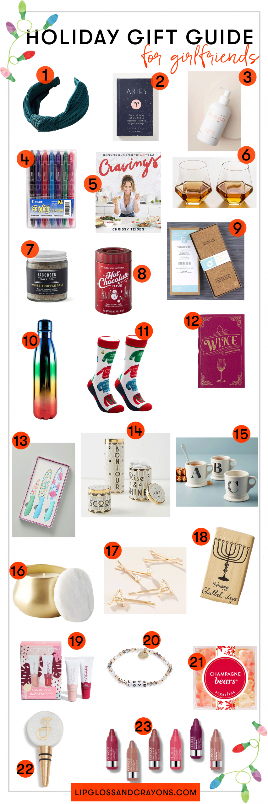 Looking for the perfect gift for the girl who has everything? This gift guide is filled with items for your coworker, your happy hour buddy, your very best girlfriends (and they're all under $25)!