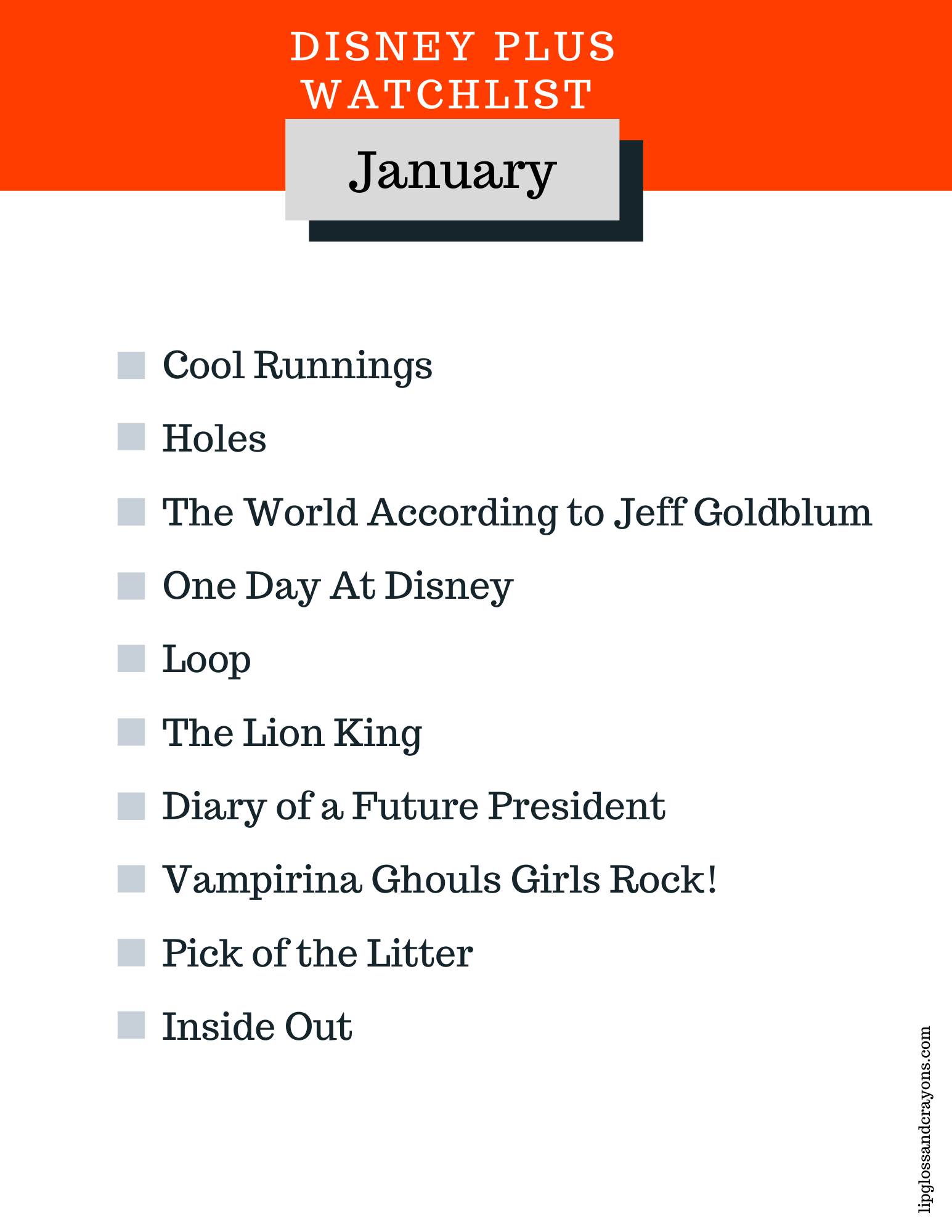 Looking for a list of Disney Plus movies to watch? This is the complete Disney Plus Watchlist for January!