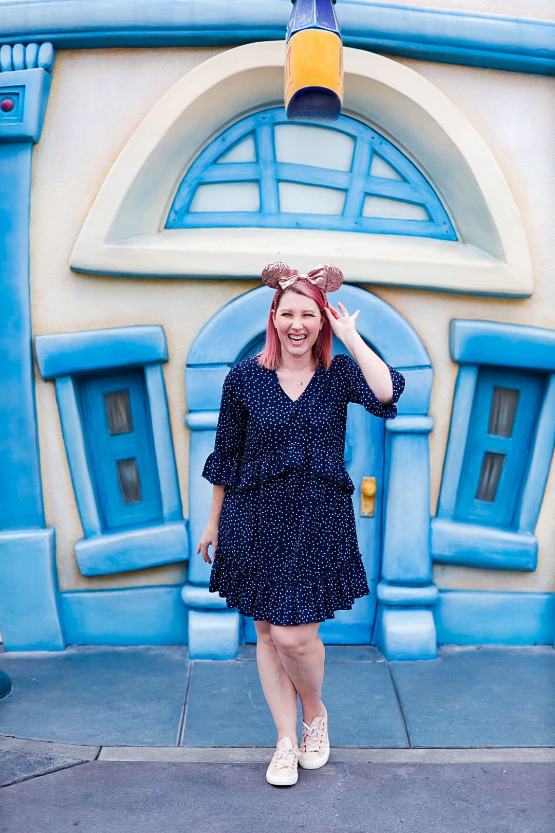 Polka Dot Outfits: this polka dot dress is the perfect Disneyland outfit!