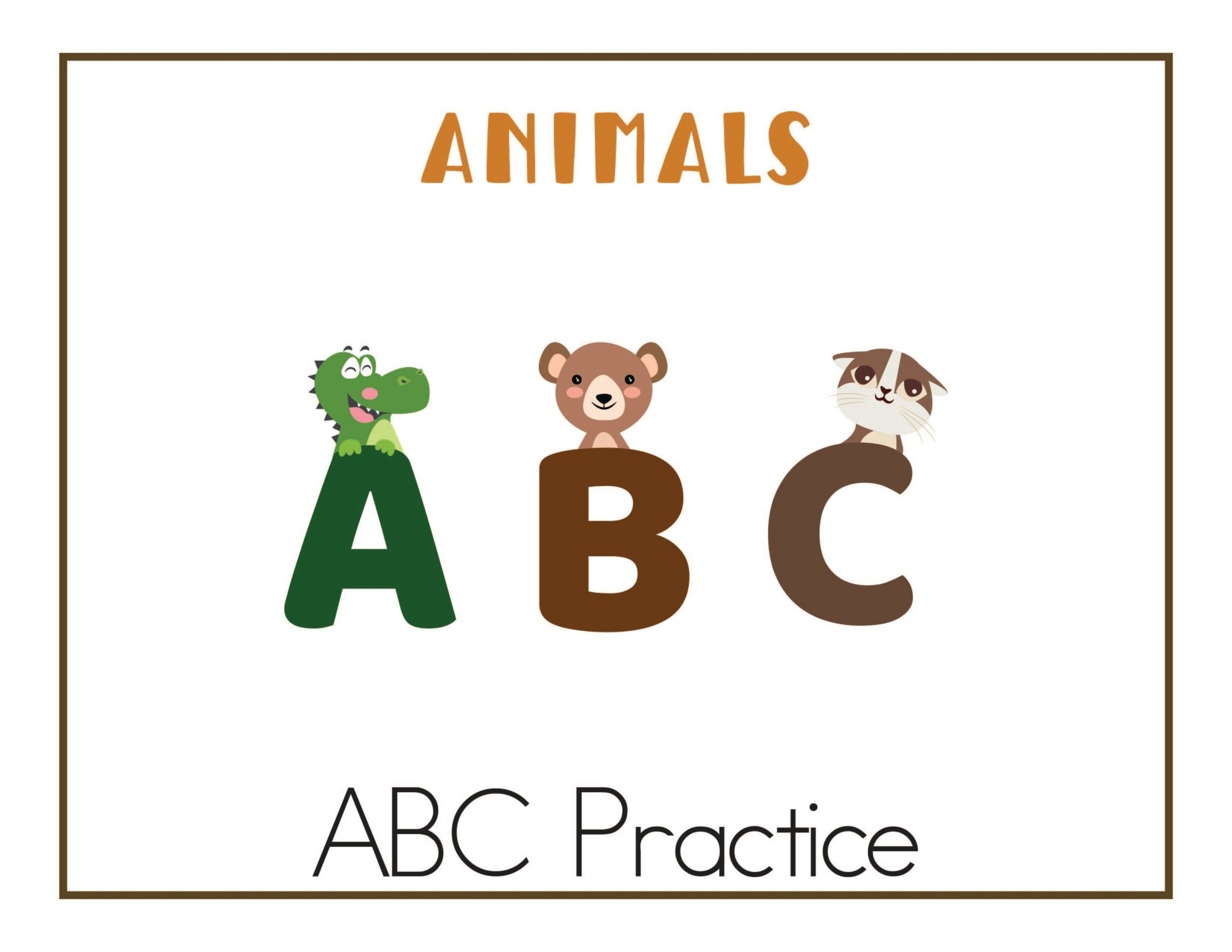 Looking for ABC Worksheets? These are great for at home practice!