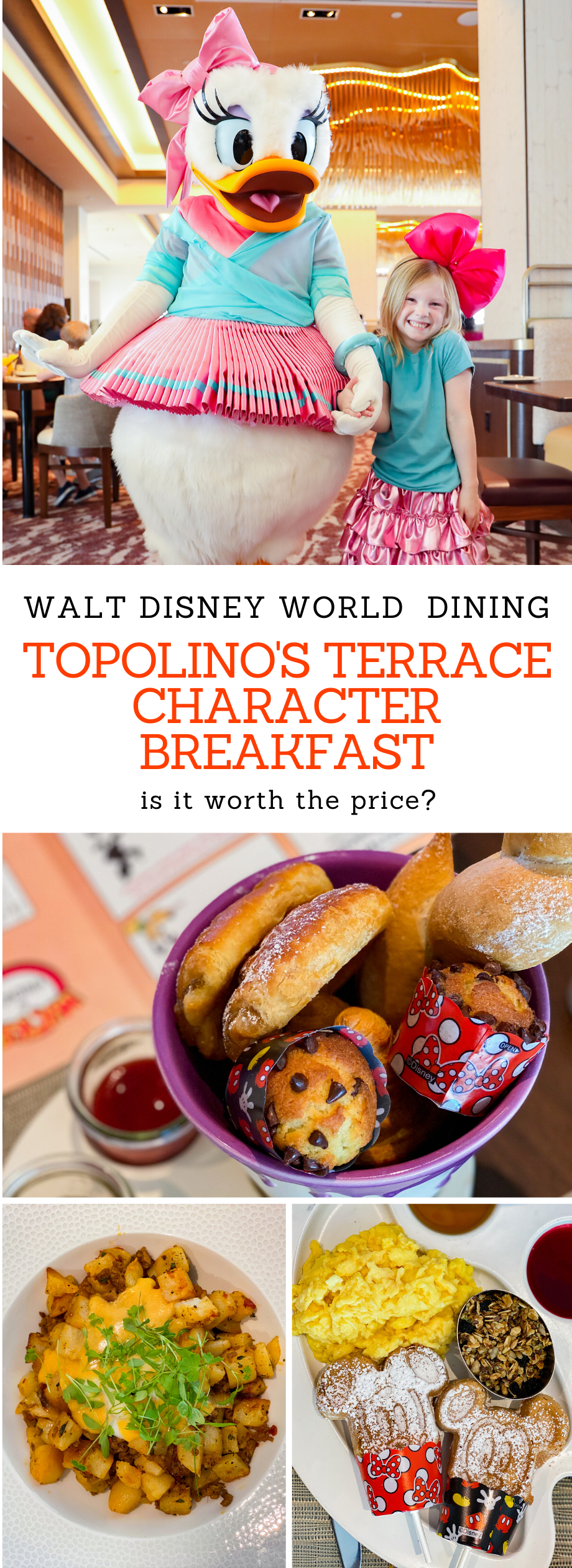 Planning out your Walt Disney World Dining reservations? Topolino's Terrace Character Breakfast is new, and this review shares all the details about the menu, character interactions and whether it's worth the price tag!