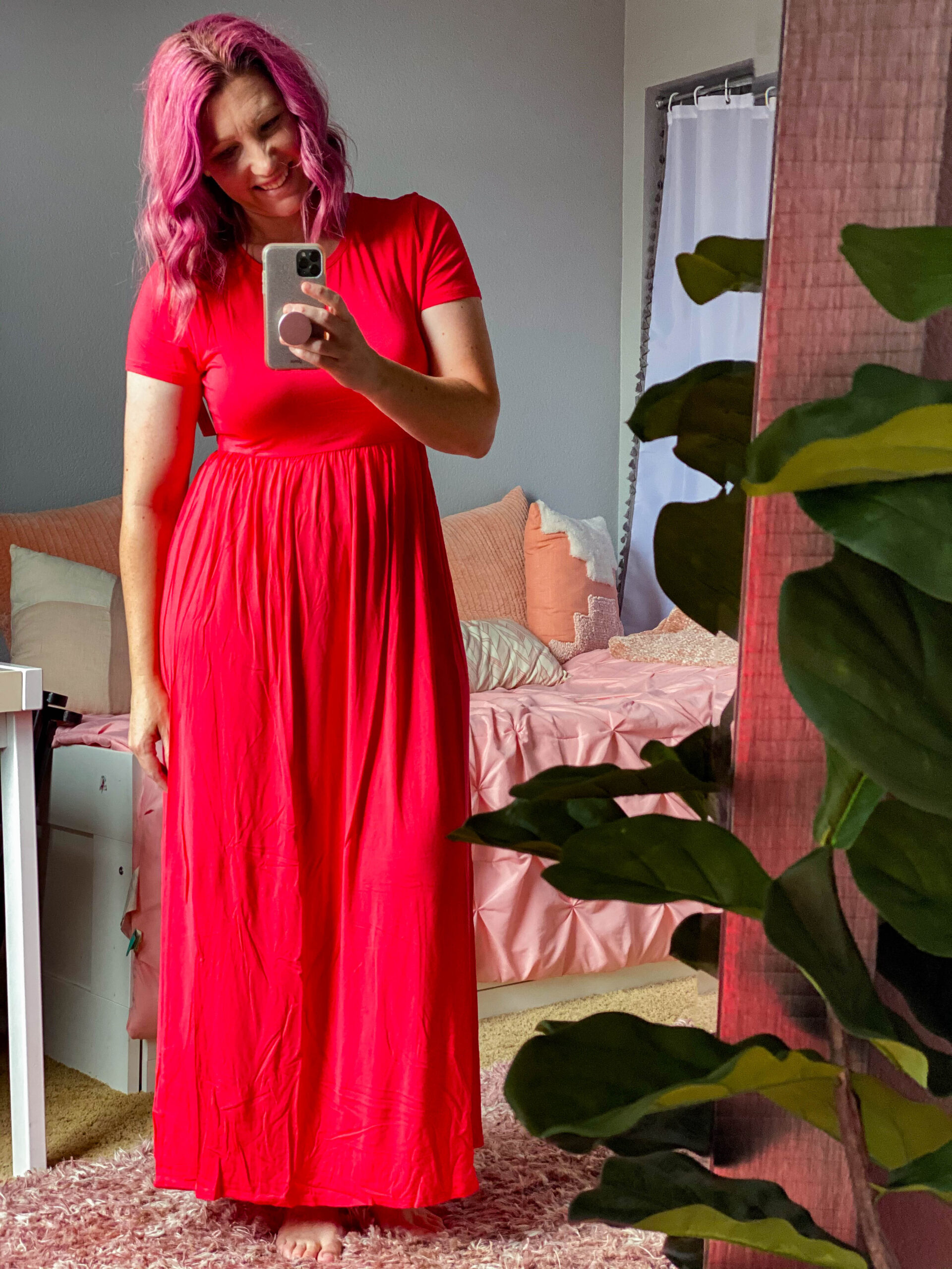 Looking for cute sundresses? This red midi one is ADORABLE!