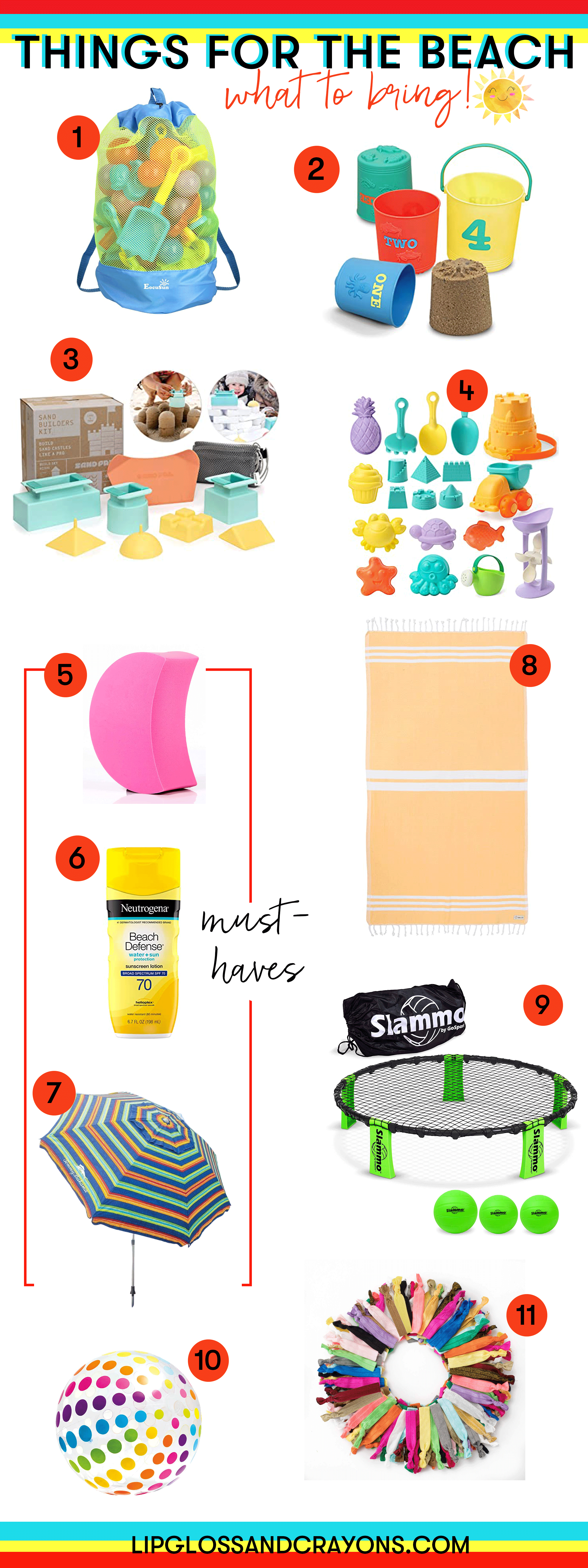 Things for the Beach: the ultimate list of what to pack