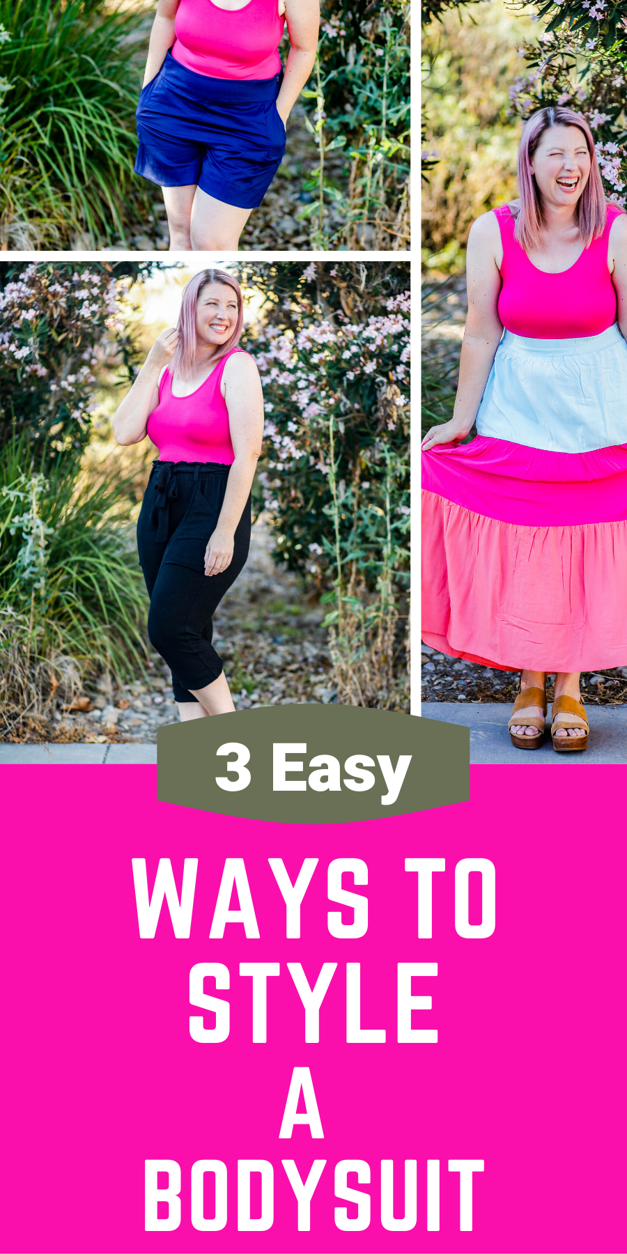 On the hunt for ways to style a bodysuit? These simple bodysuit outfits are fun, easy to wear and super flattering!