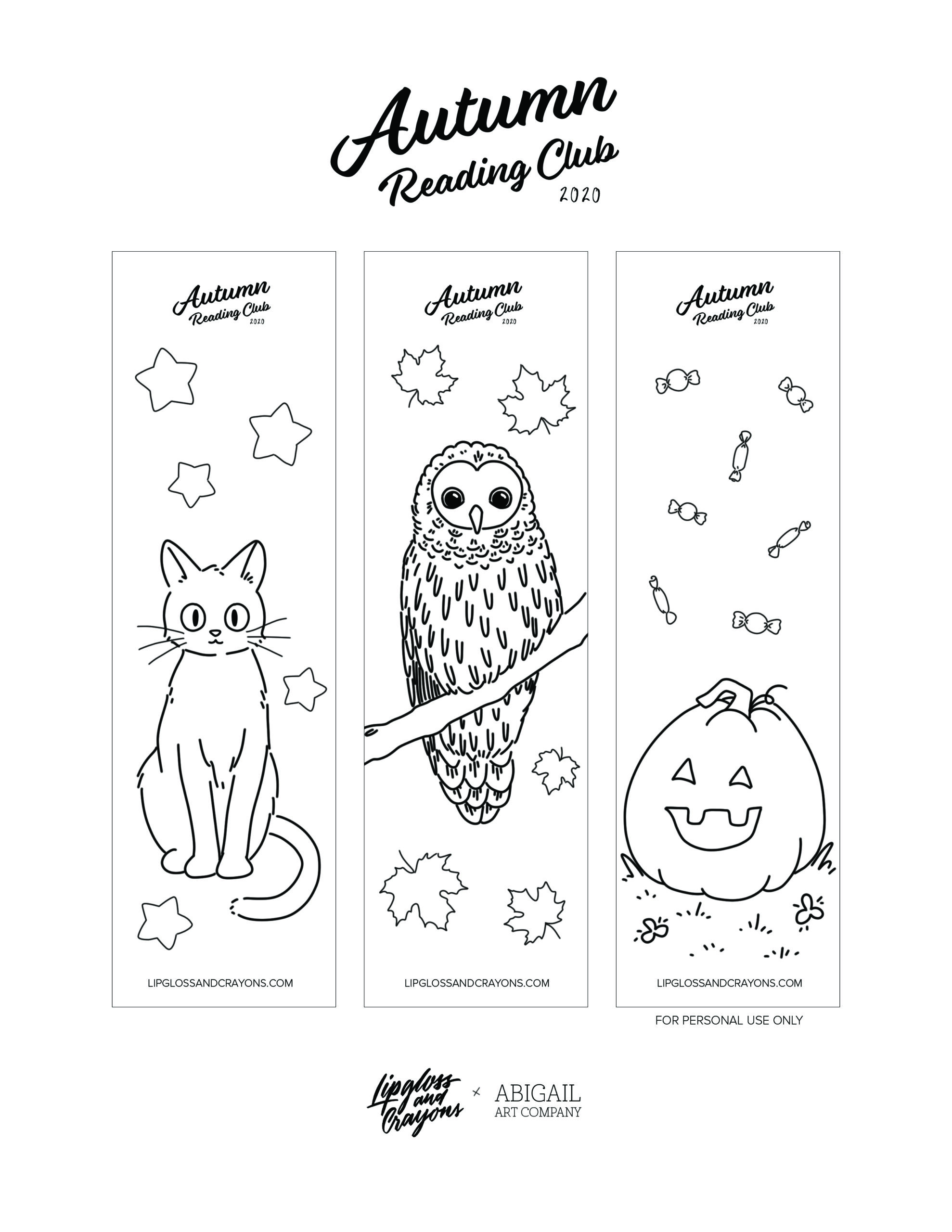 This Fall Reading Log for kids is FREE and adorable!