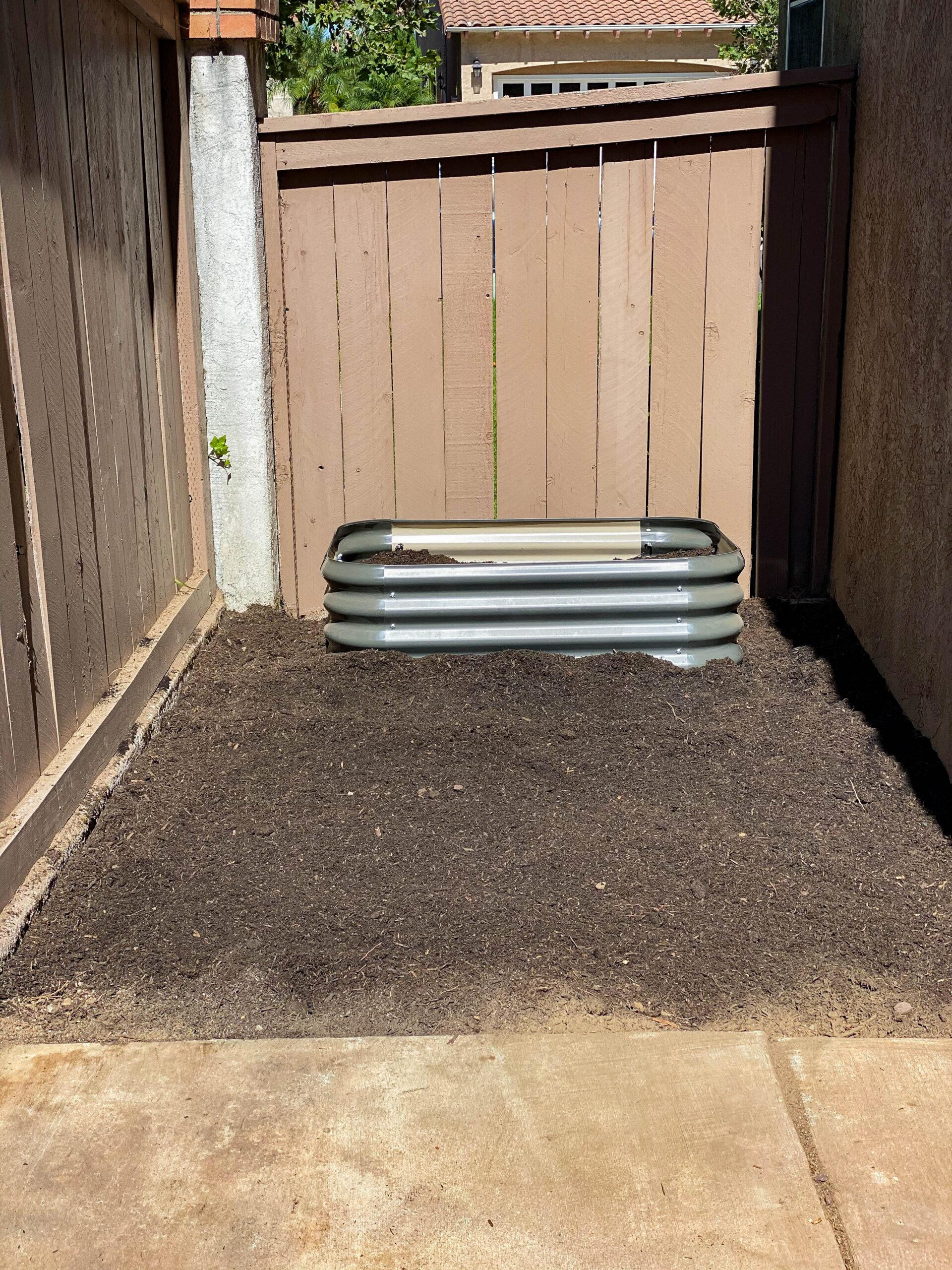 Garden Soil Preparation: After
