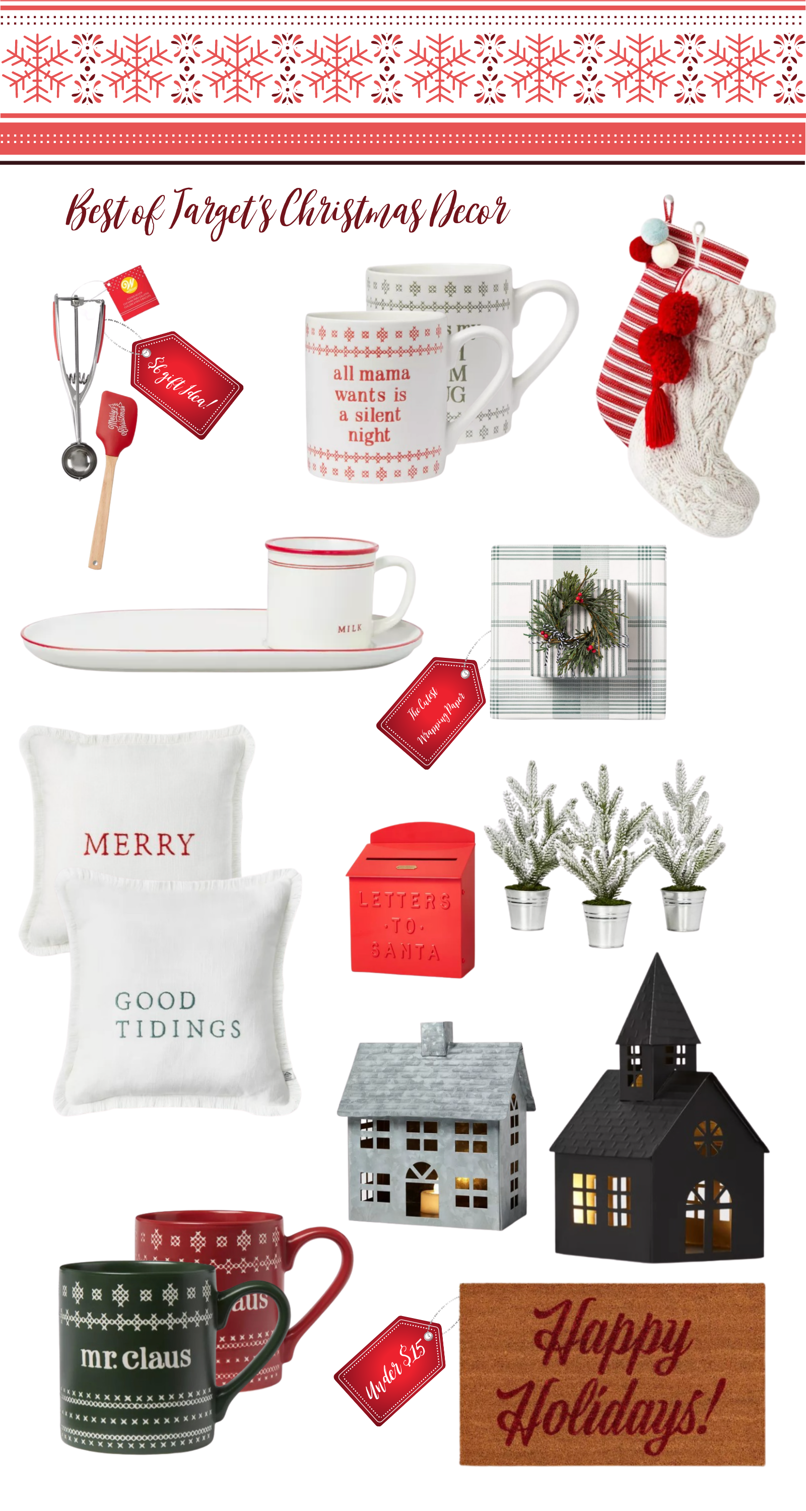Ready for Target Christmas 2020 decor? From mini Christmas trees to signs and themed decor, Target has it all this year!