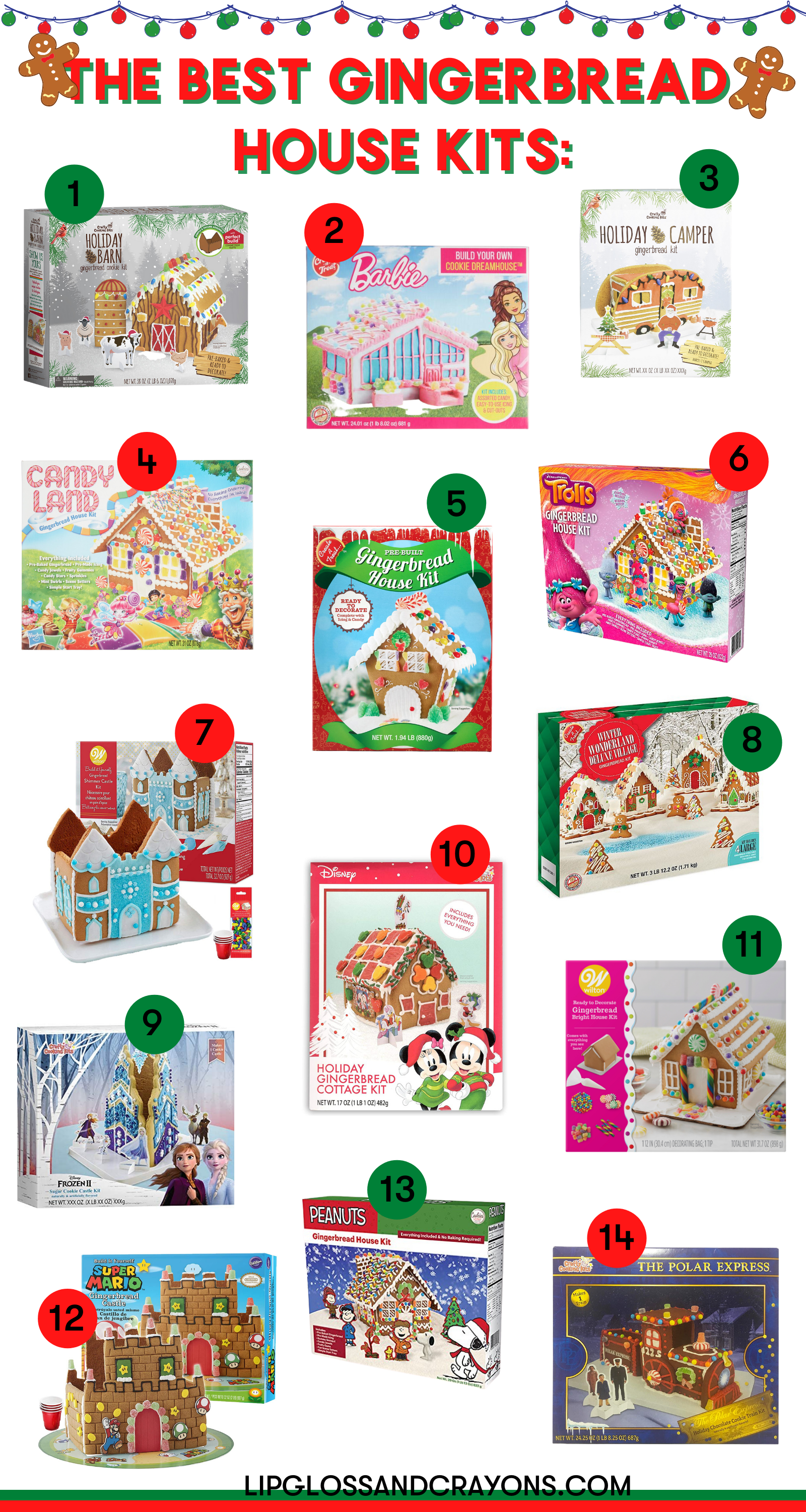 Looking for fun Christmas activities for kids? These are the best gingerbread house kits!