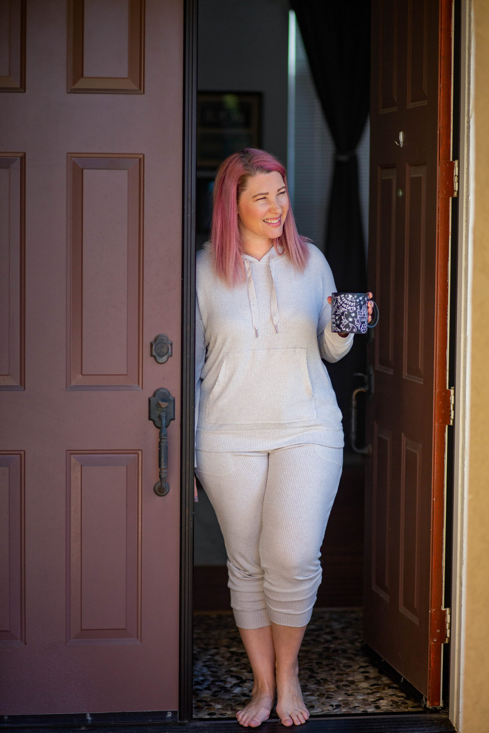 This ribbed sweatsuit is PERFECTION for winter days!