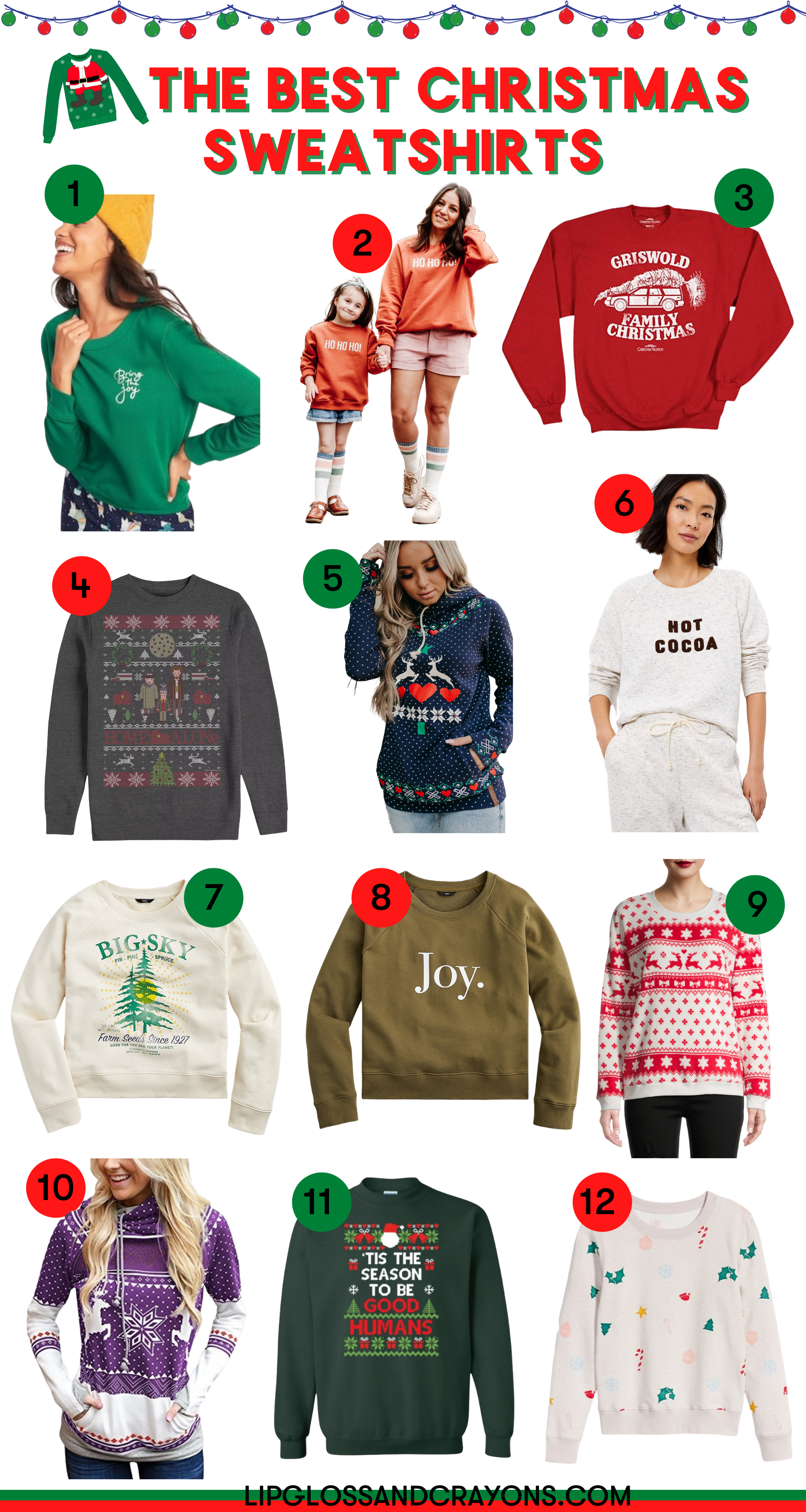 Looking for fun and cozy Christmas sweatshirts? These are some of the best!!!!