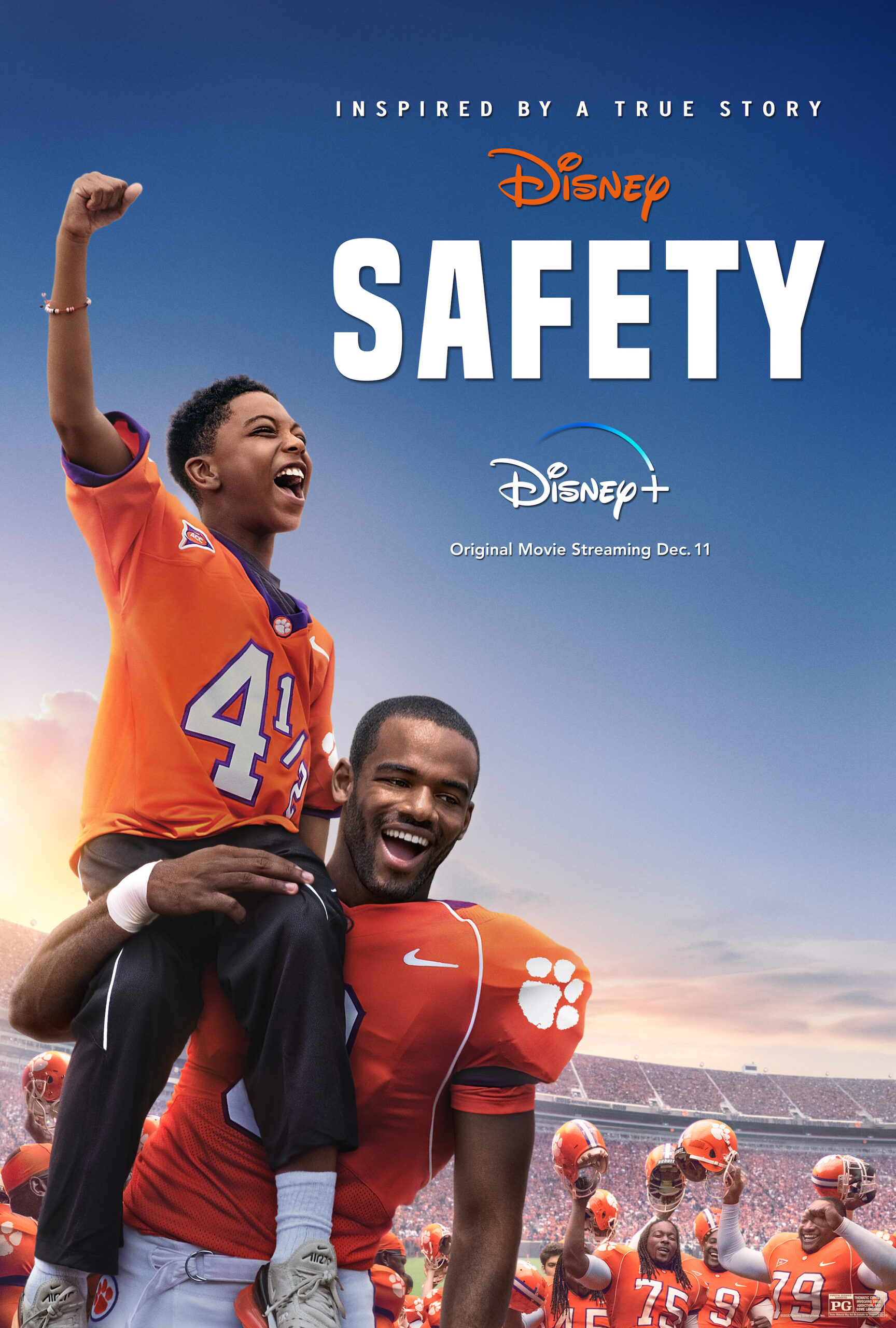 Wondering if you should watch Safety on Disney+ as a family? This non-sporty mom is giving you my opinion on who this movie is perfect for!