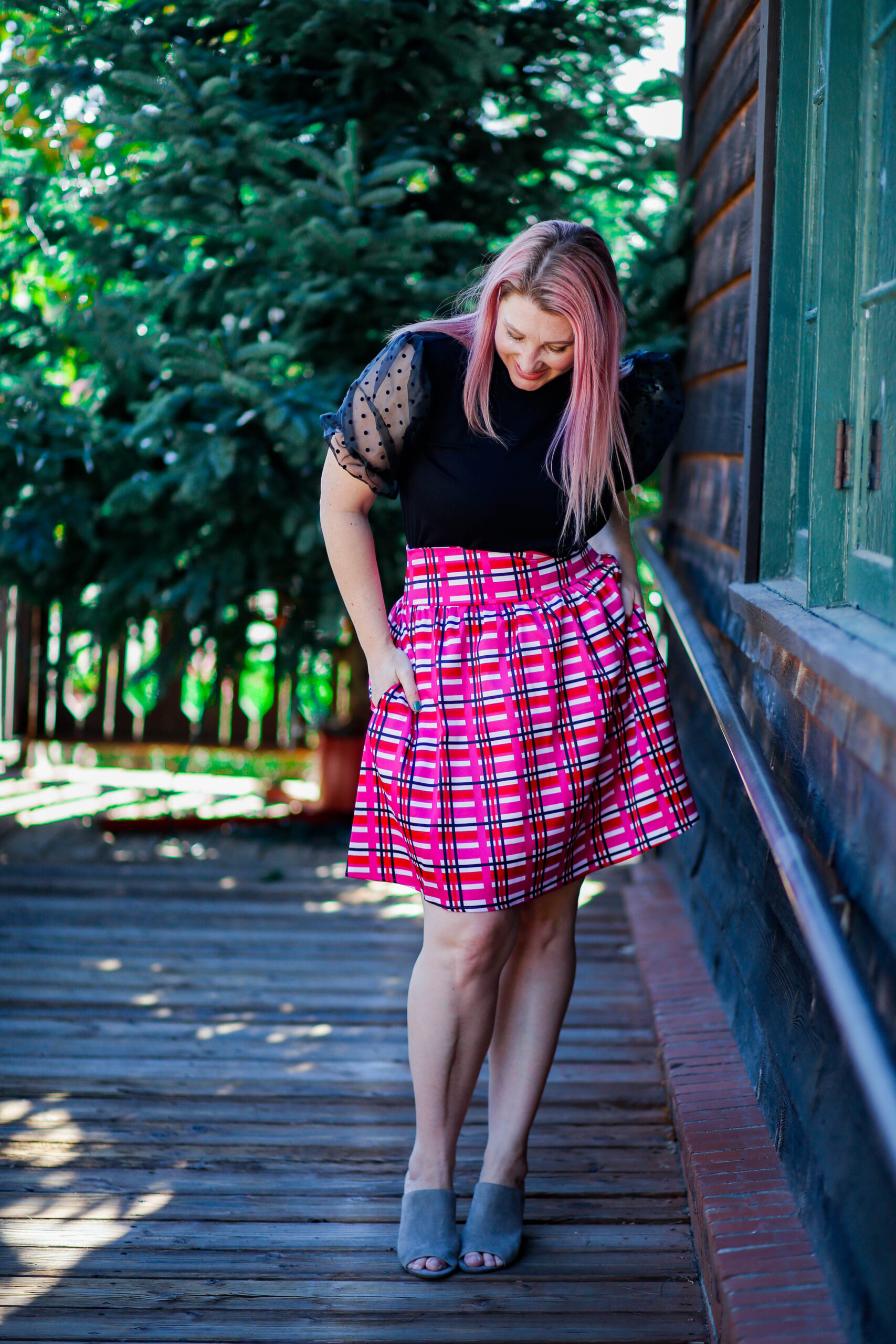 Looking for Christmas Eve Outfits? This plaid skirt is PERFECT!