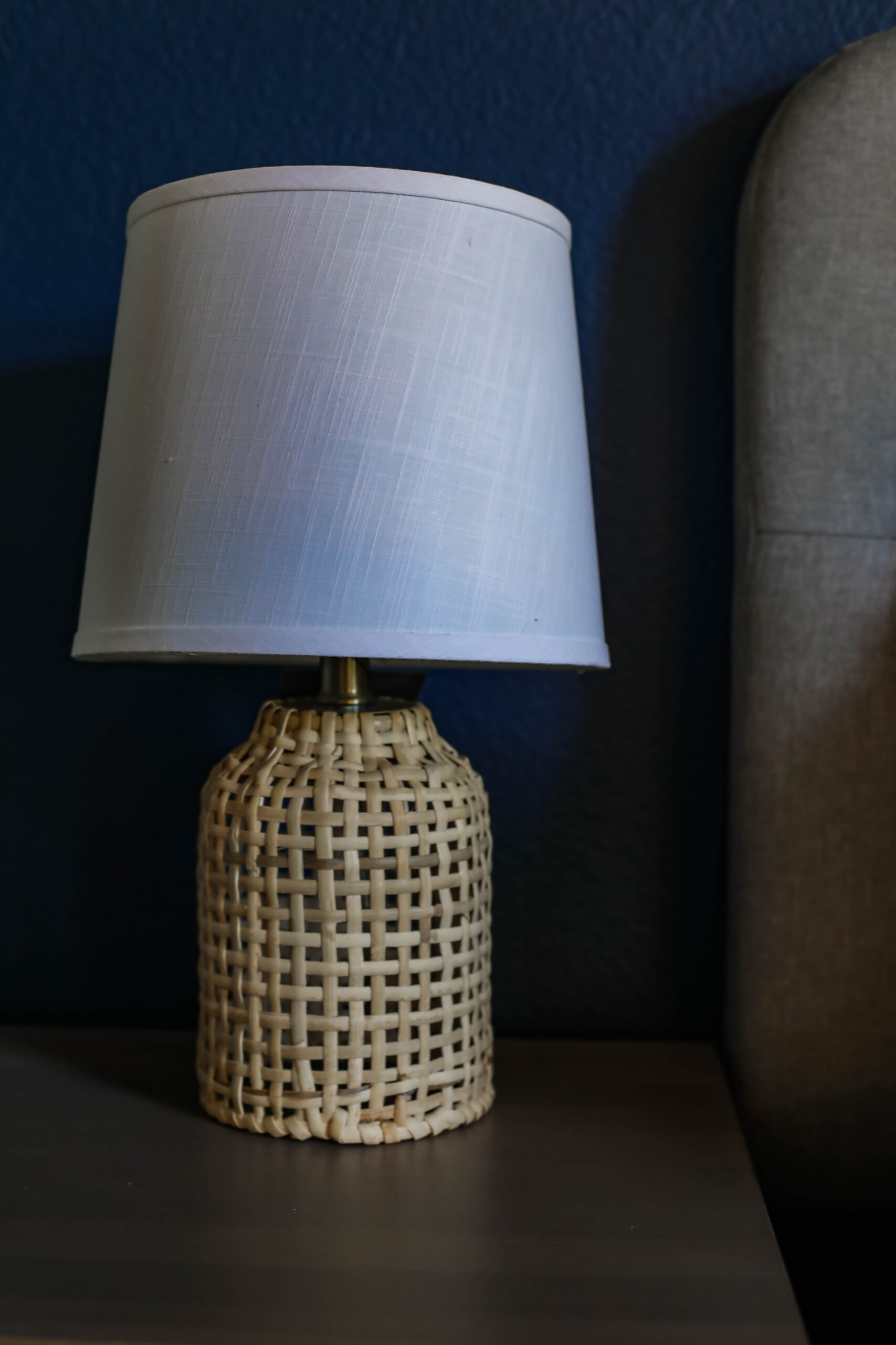 This rattan lamp is a KILLER price and a simple way to update a bedroom!
