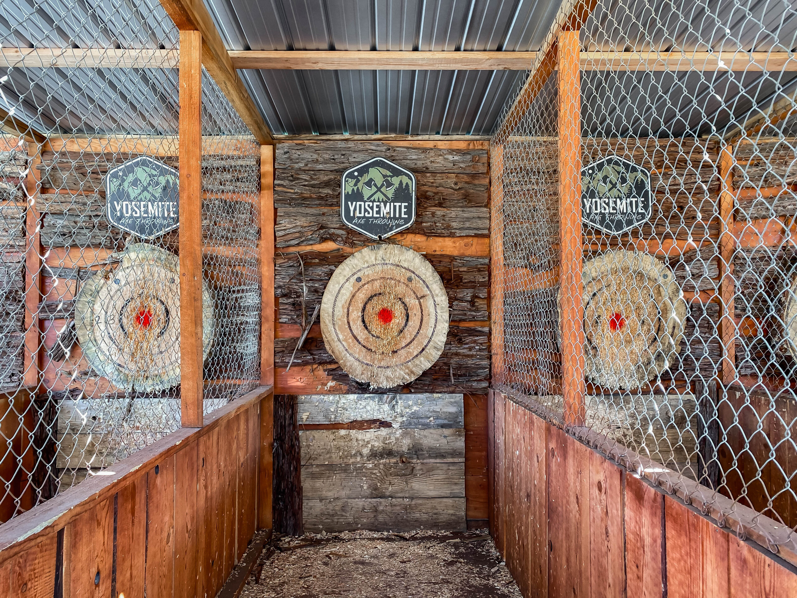 Visiting Bass Lake? Be sure to try axe throwing!