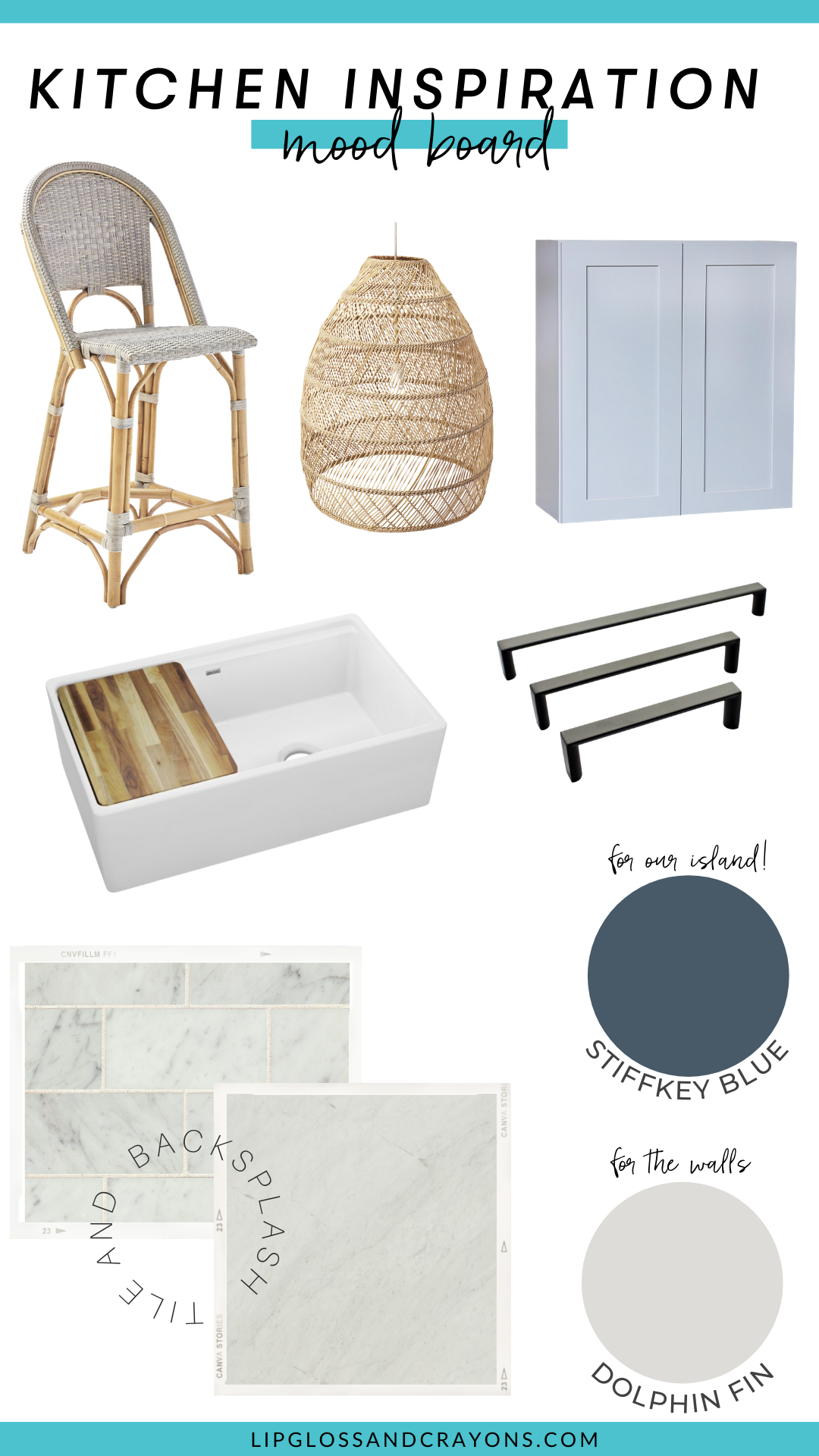 Looking for light grey kitchen ideas? This is the moodboard for our light and airy grey kitchen!