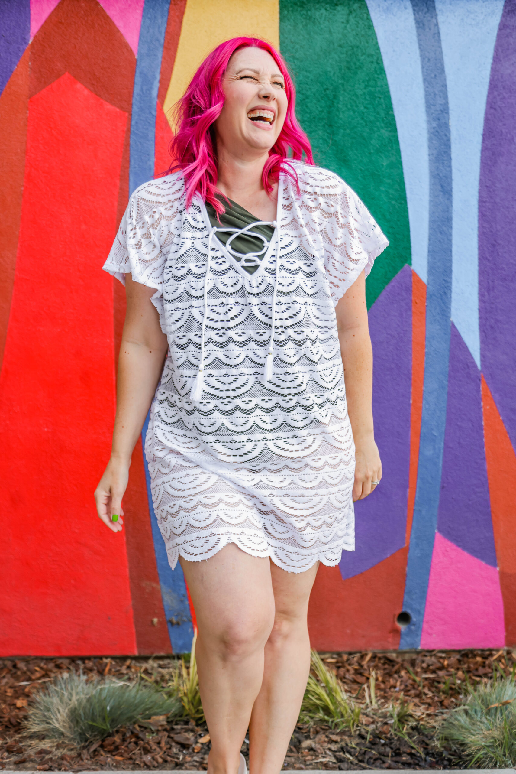 On the hunt for cute coverups? This lace cover up is under $30!