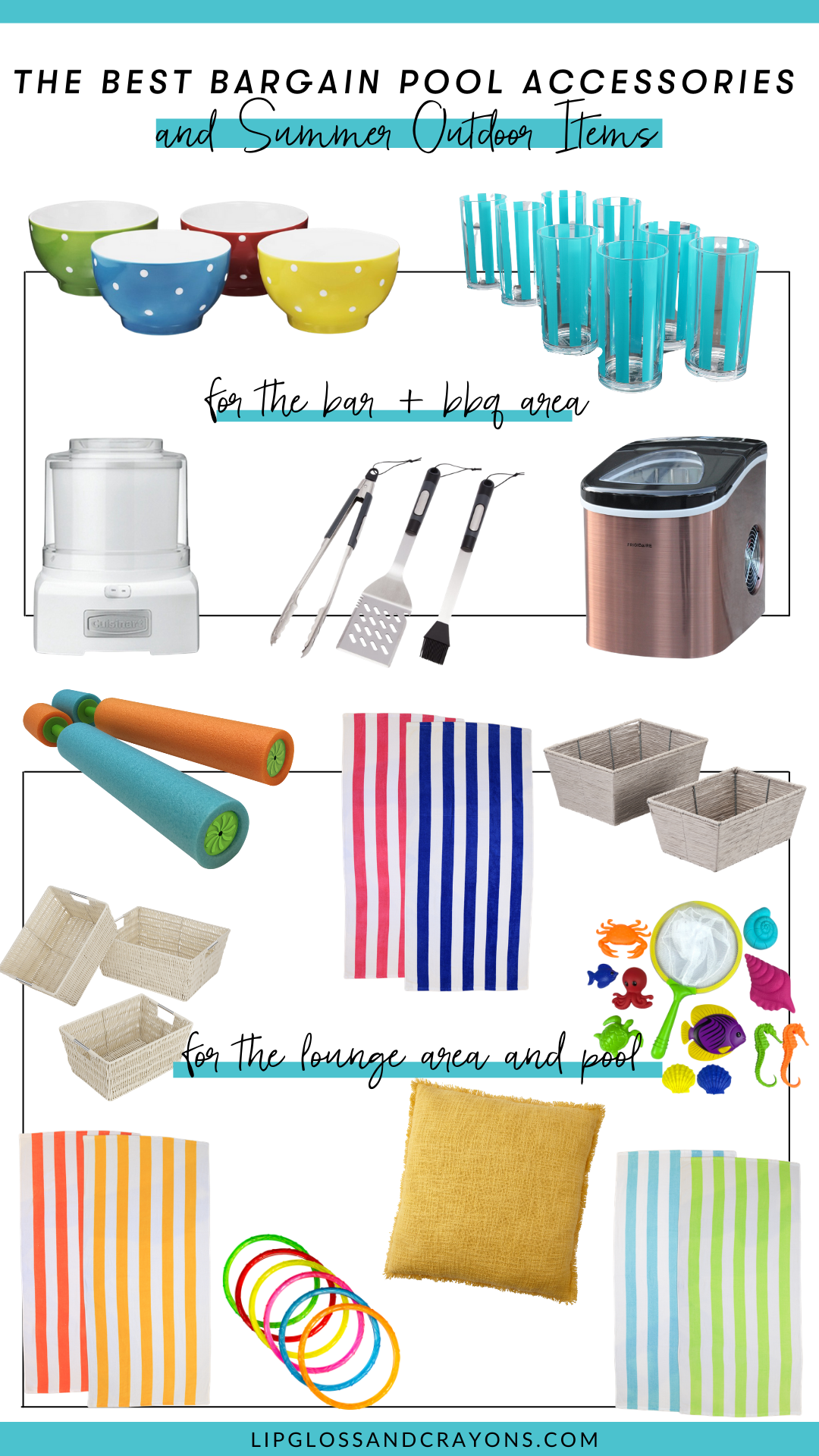 Summer is HERE! If you're gearing up for outdoor celebrations and backyard soirees, then these bargain pool accessories and outdoor items are for YOU!